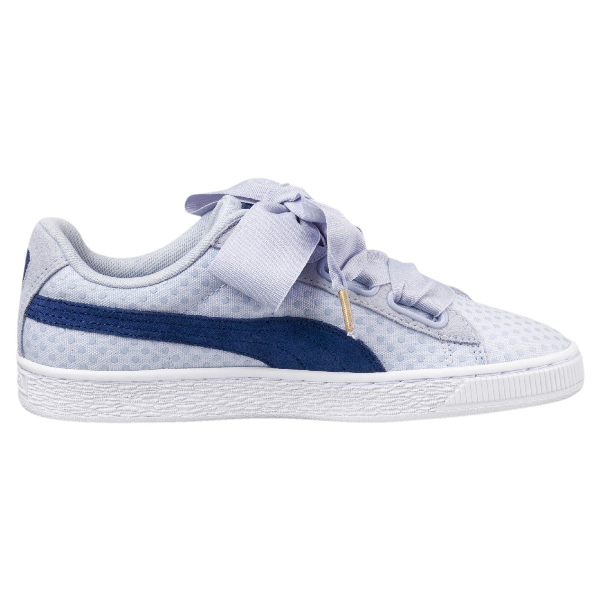 quality design e083e 9e913 Blue Basket Heart Denim Women's Sneakers