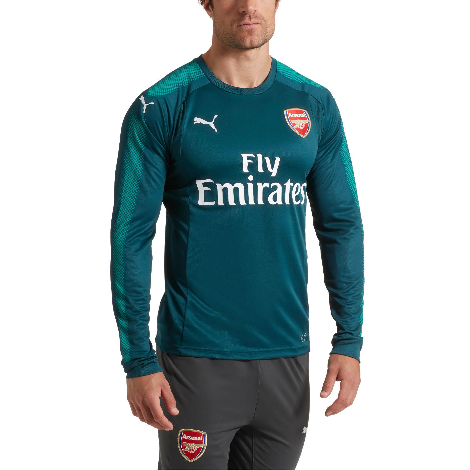 new styles bd6c3 3262d PUMA Green Arsenal Long Sleeve Goalkeeper Jersey for men