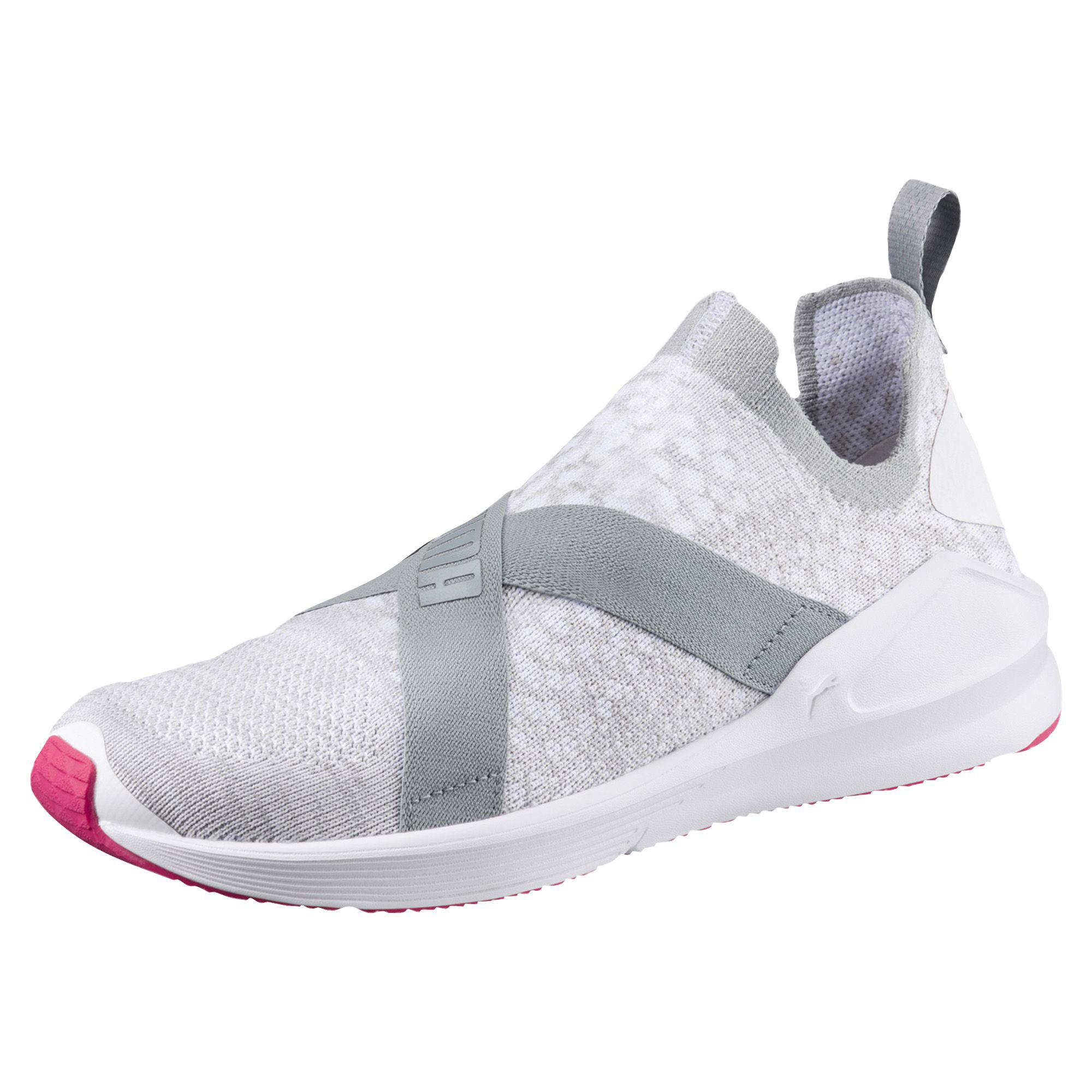 top view of womens puma fierce evoknit training shoes in puma black puma  white dc2b5003f