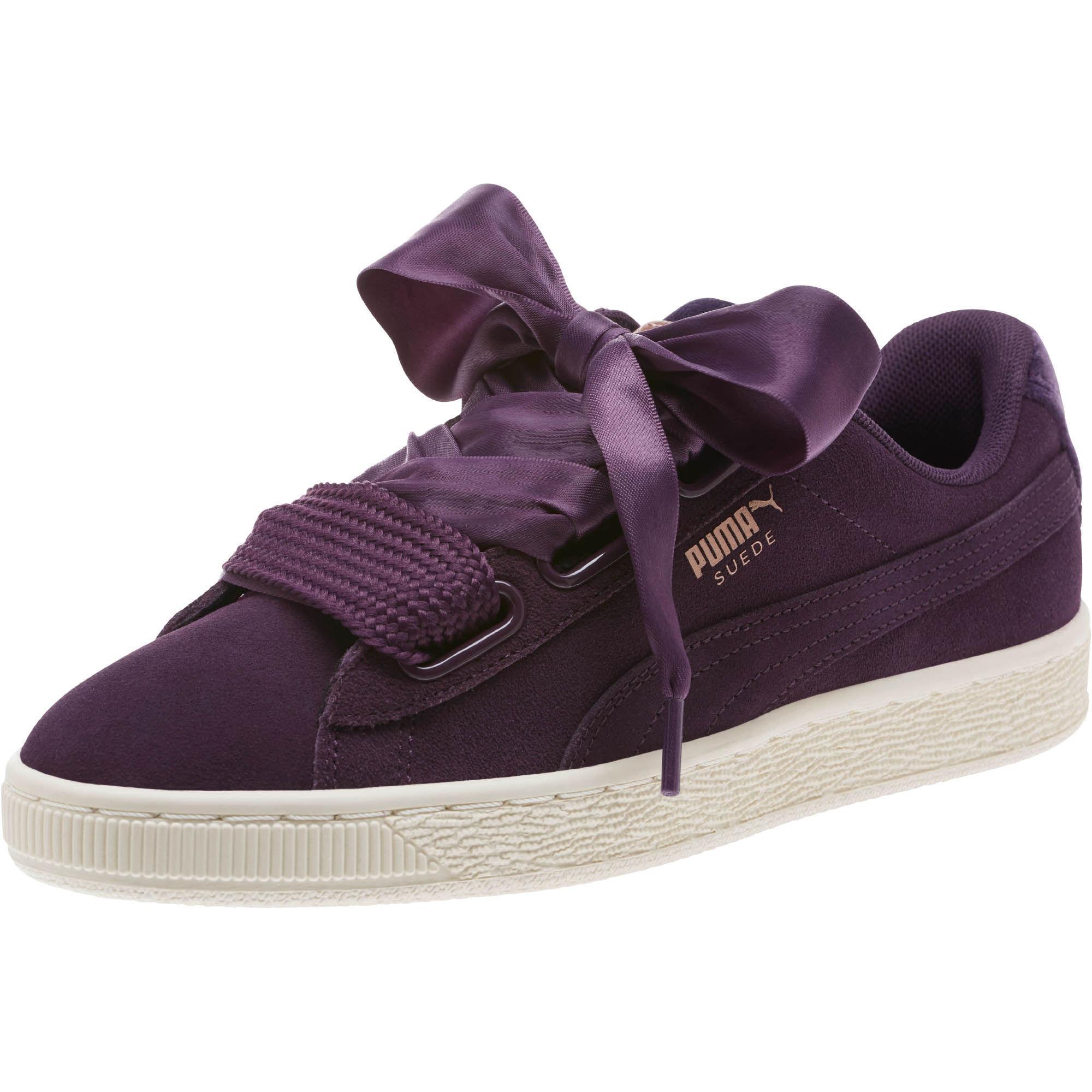 sports shoes 63f45 5631b Purple Suede Heart Vr Women's Sneakers