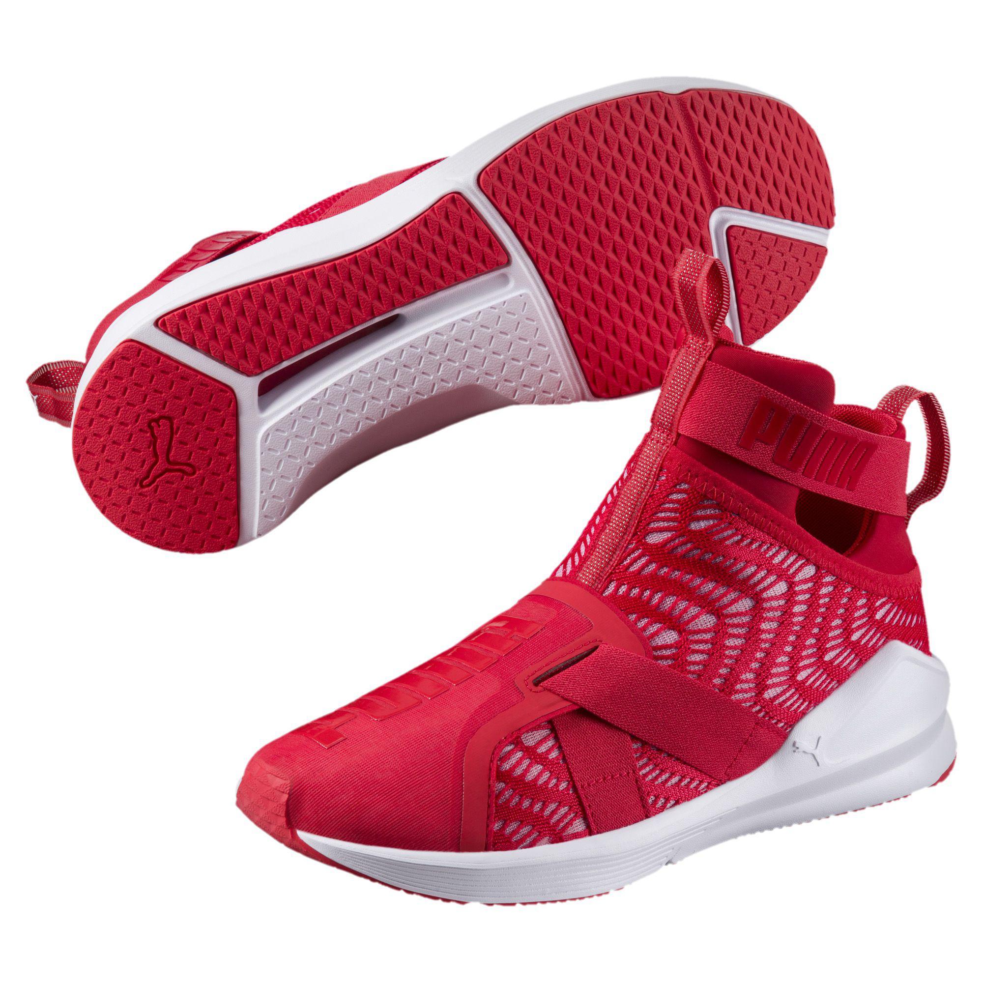 30b05562e86 Lyst - PUMA Fierce Strap Swirl Women s Training Shoes in Red