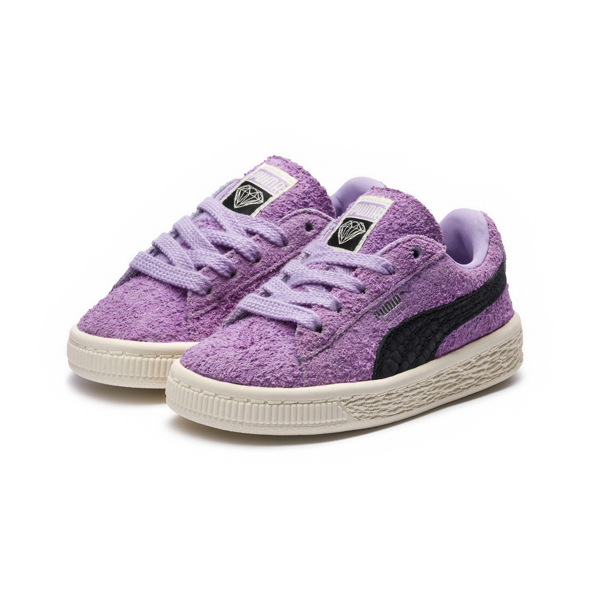 7ae06103f52 Lyst - PUMA X Diamond Suede Infant Sneakers in Purple