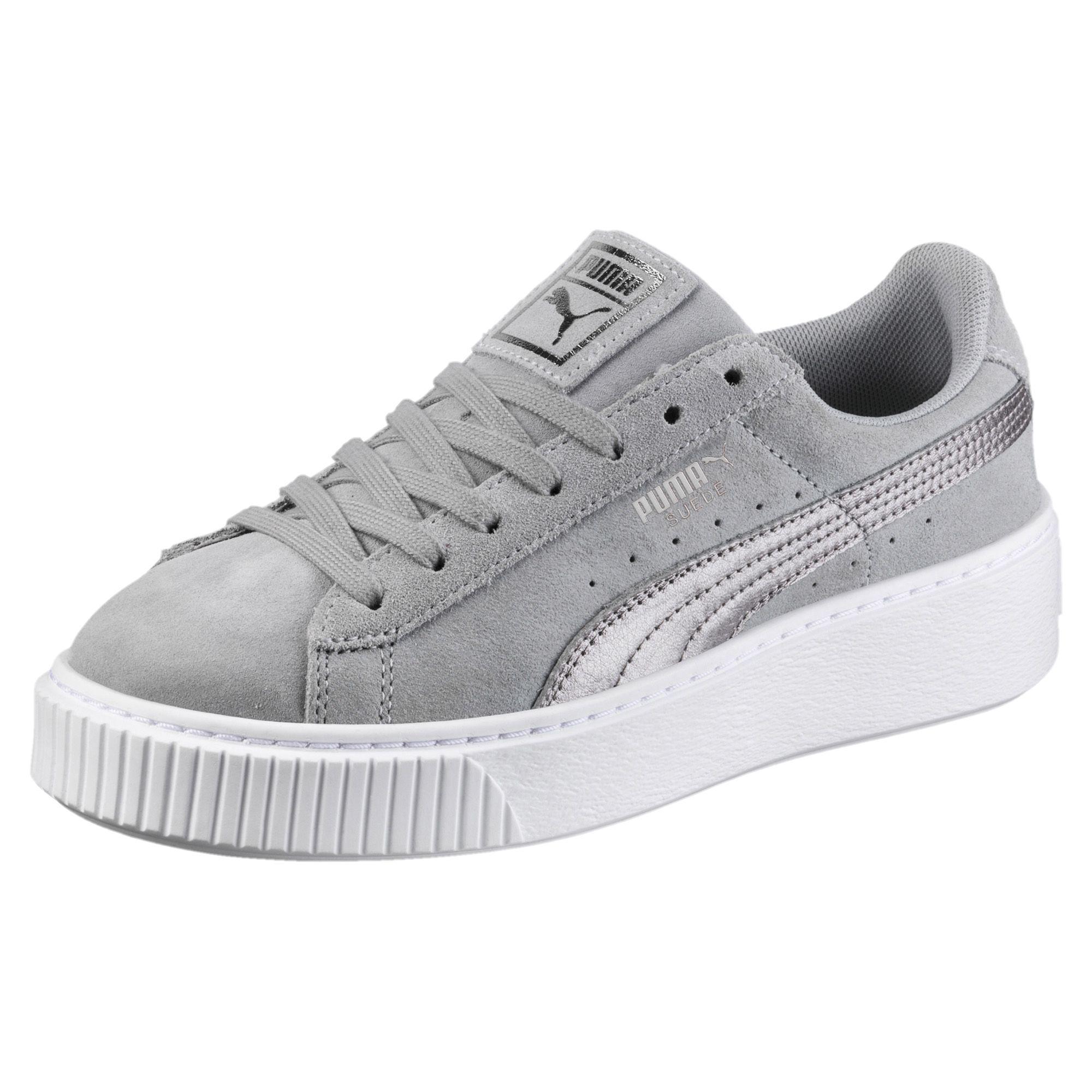 grey puma basket
