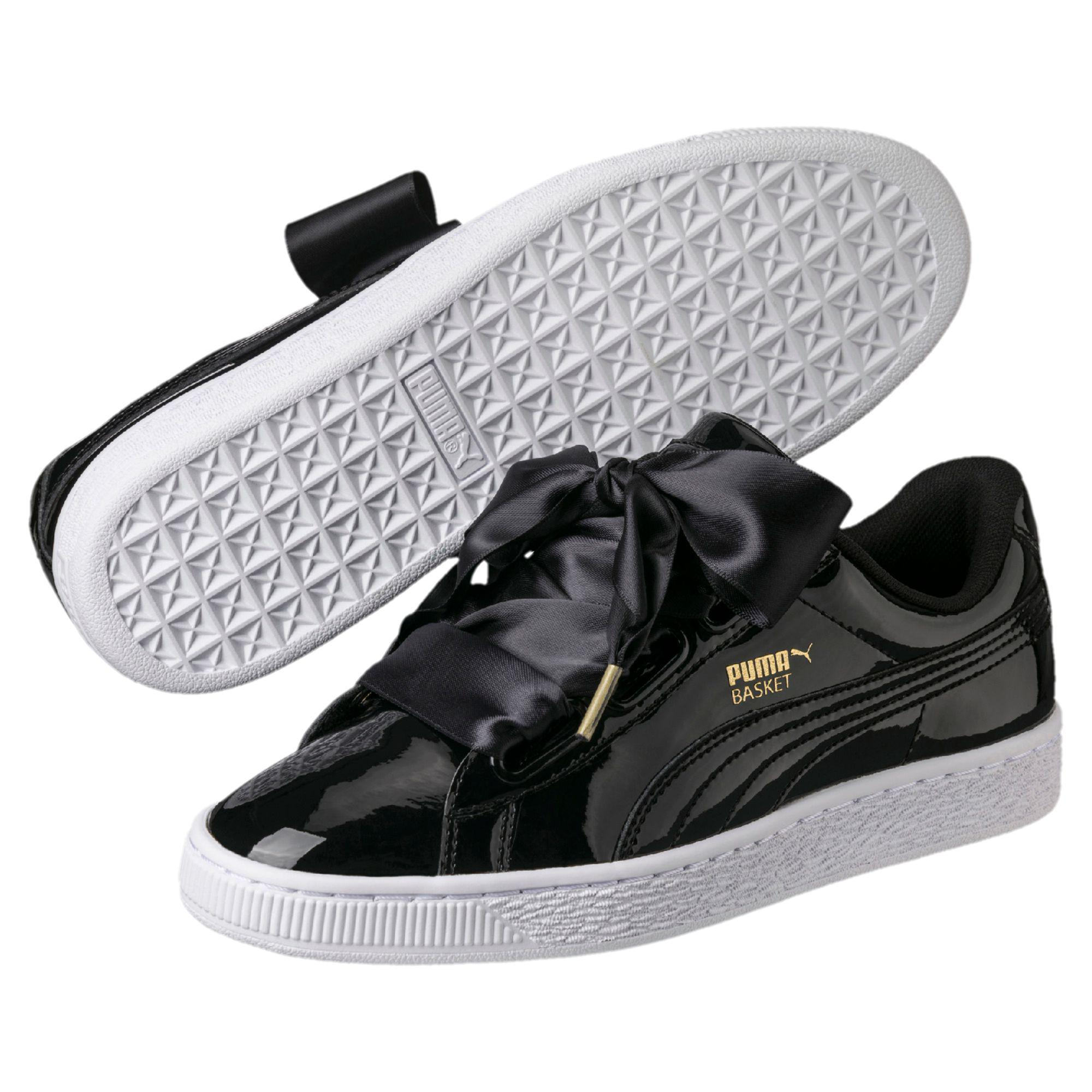 Basket Heart Patent Wn's Low-top Sneakers