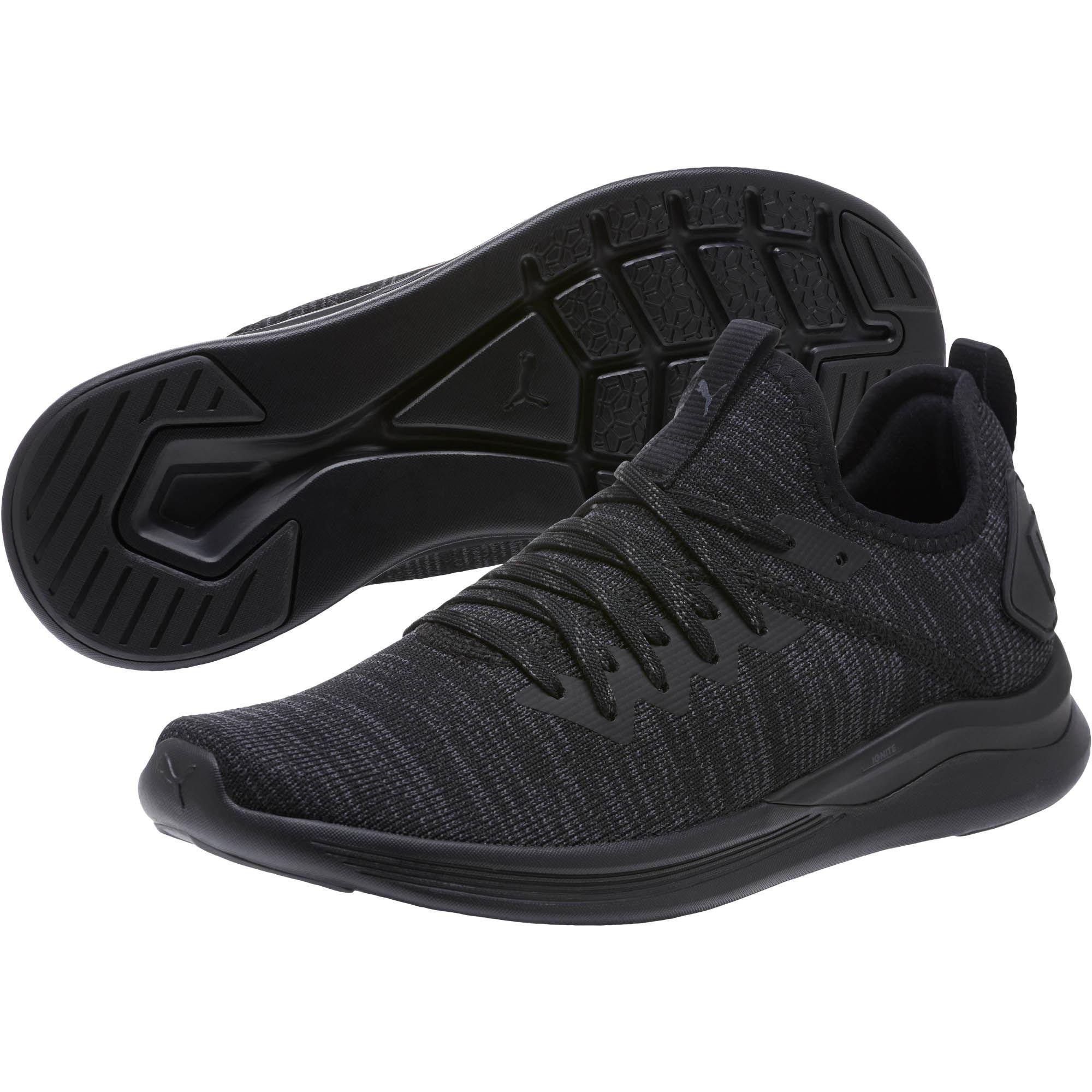 264620347c48 PUMA Ignite Flash Evoknit Women s Training Shoes in Black - Lyst