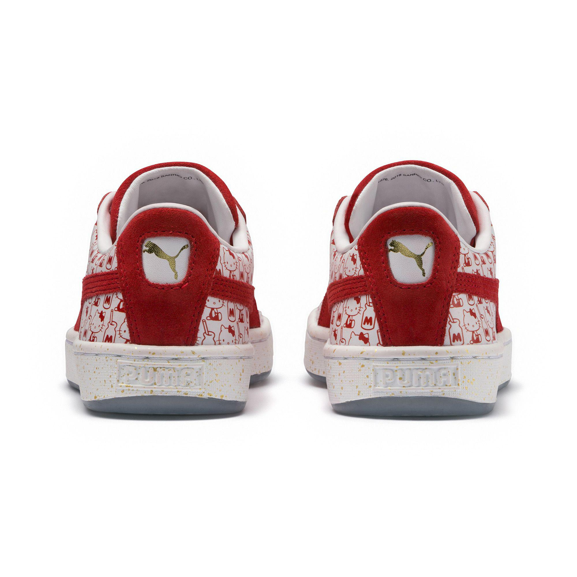 hot sale online 565a8 6ee12 PUMA Red X Hello Kitty Jr Suede