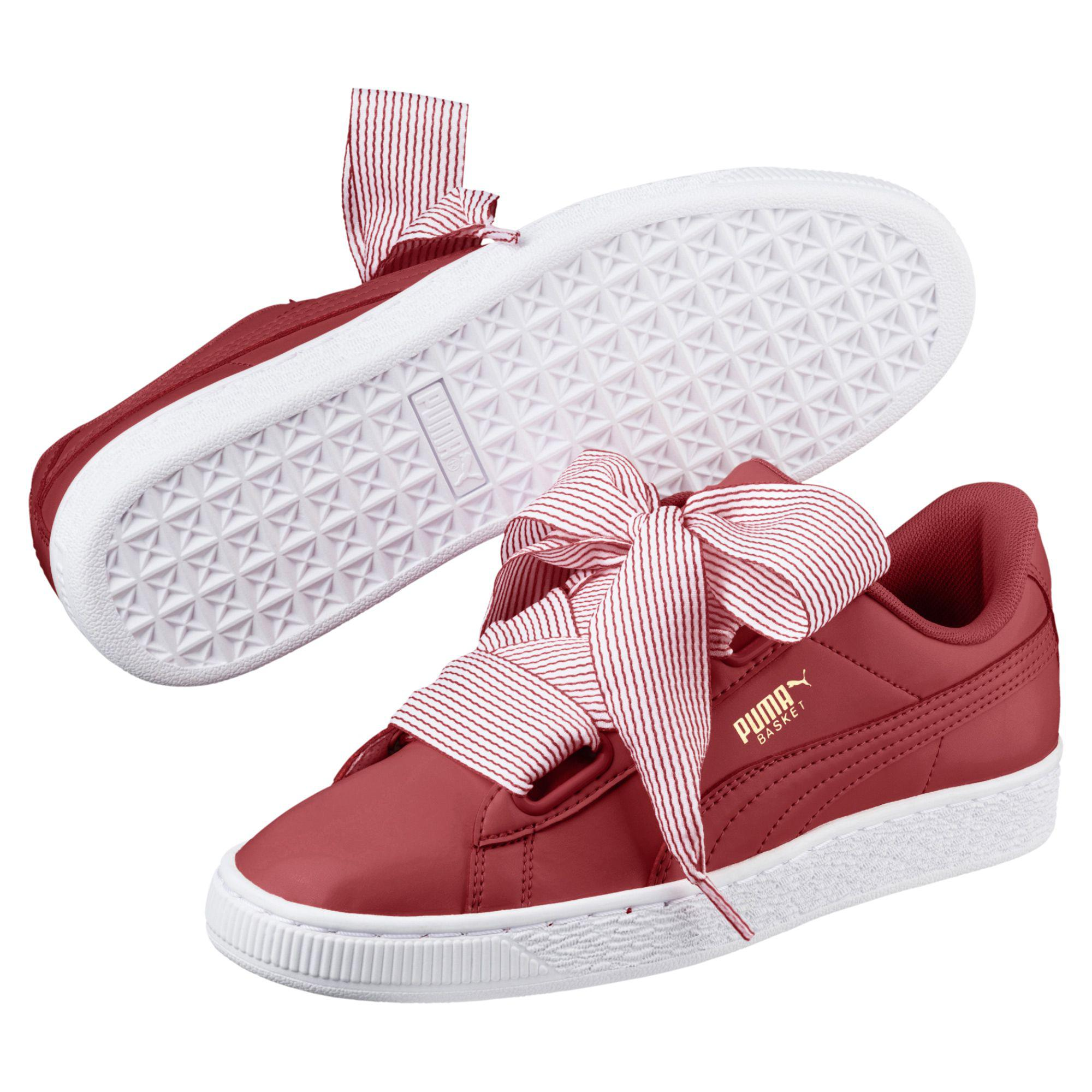 b028849f7b41 Lyst - PUMA Basket Heart Women s Sneakers in Red