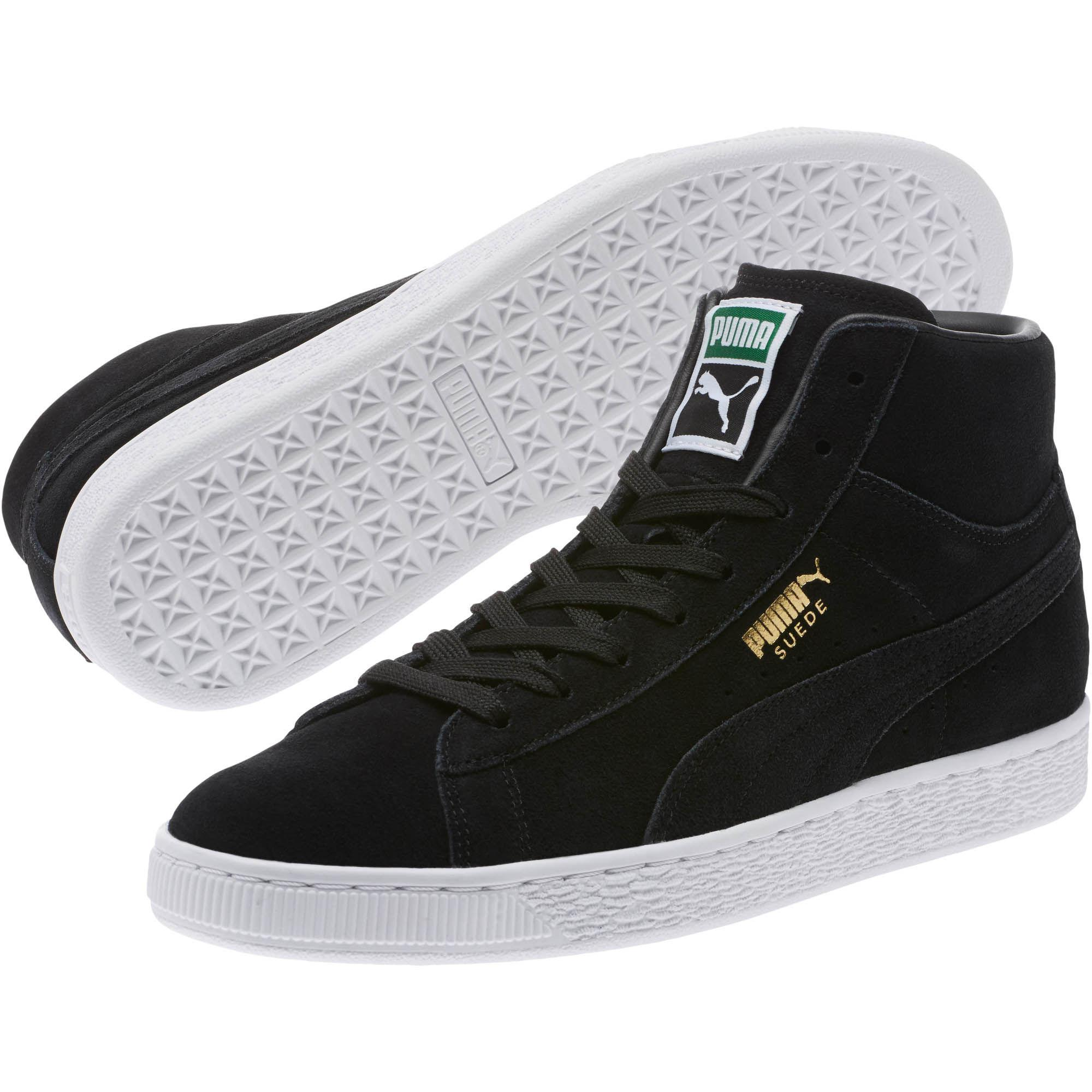PUMA Suede Classic Mid Sneakers in Black for Men - Lyst