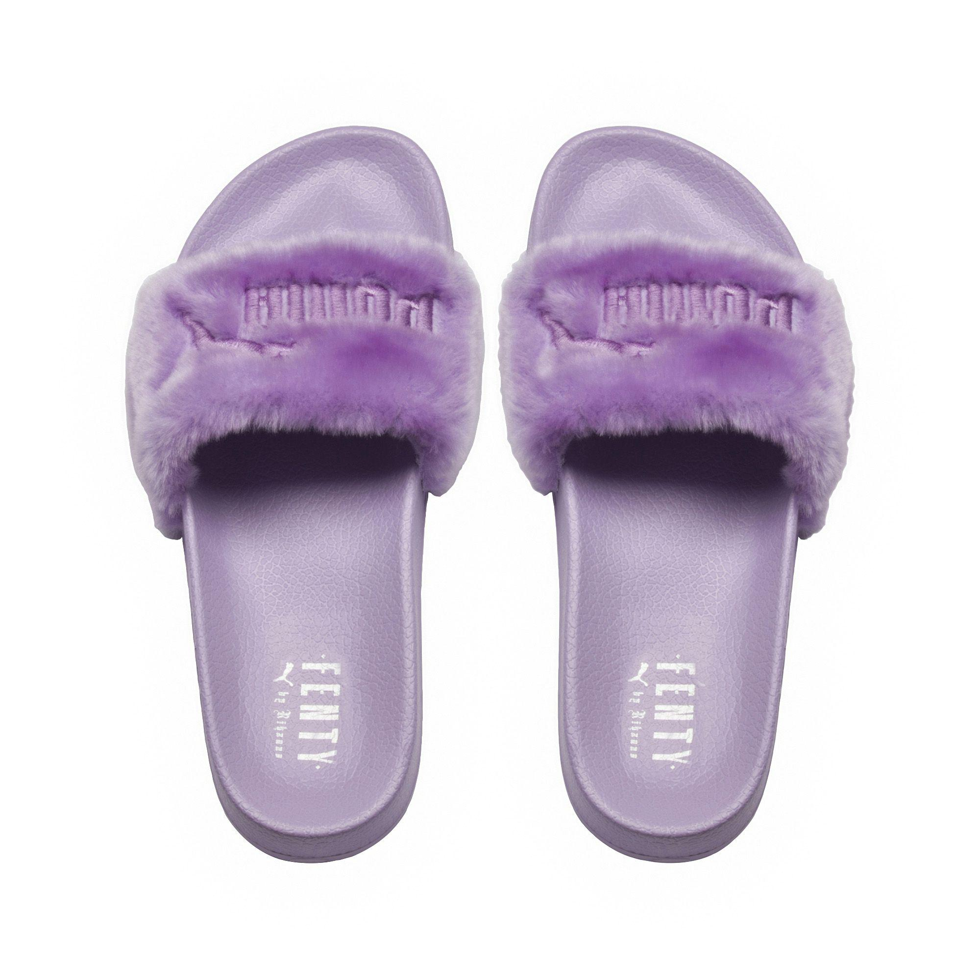 new styles 096e2 1dc04 Purple Fenty Fur Men's Slide Sandals