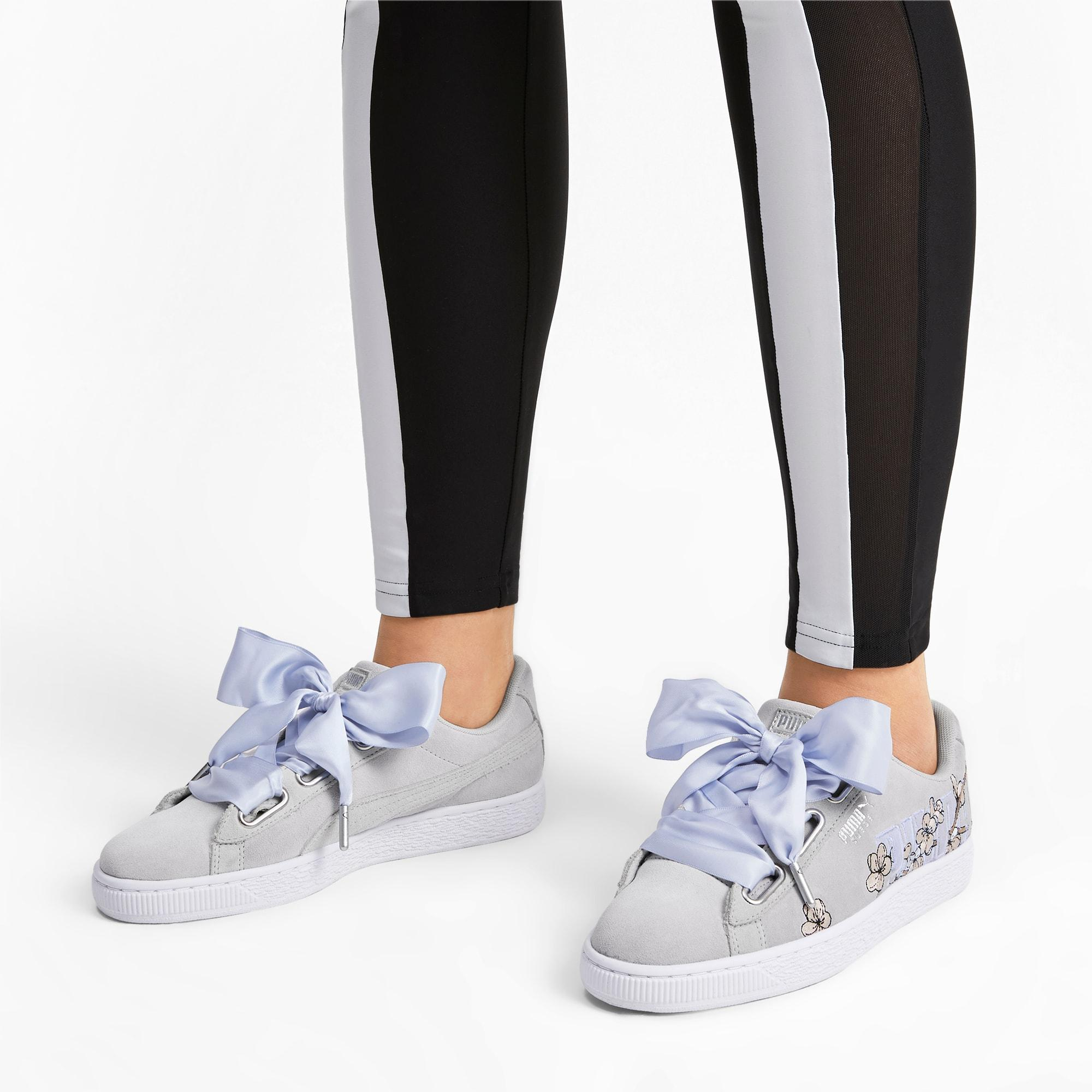 PUMA Suede Heart Floral Sneakers - Lyst