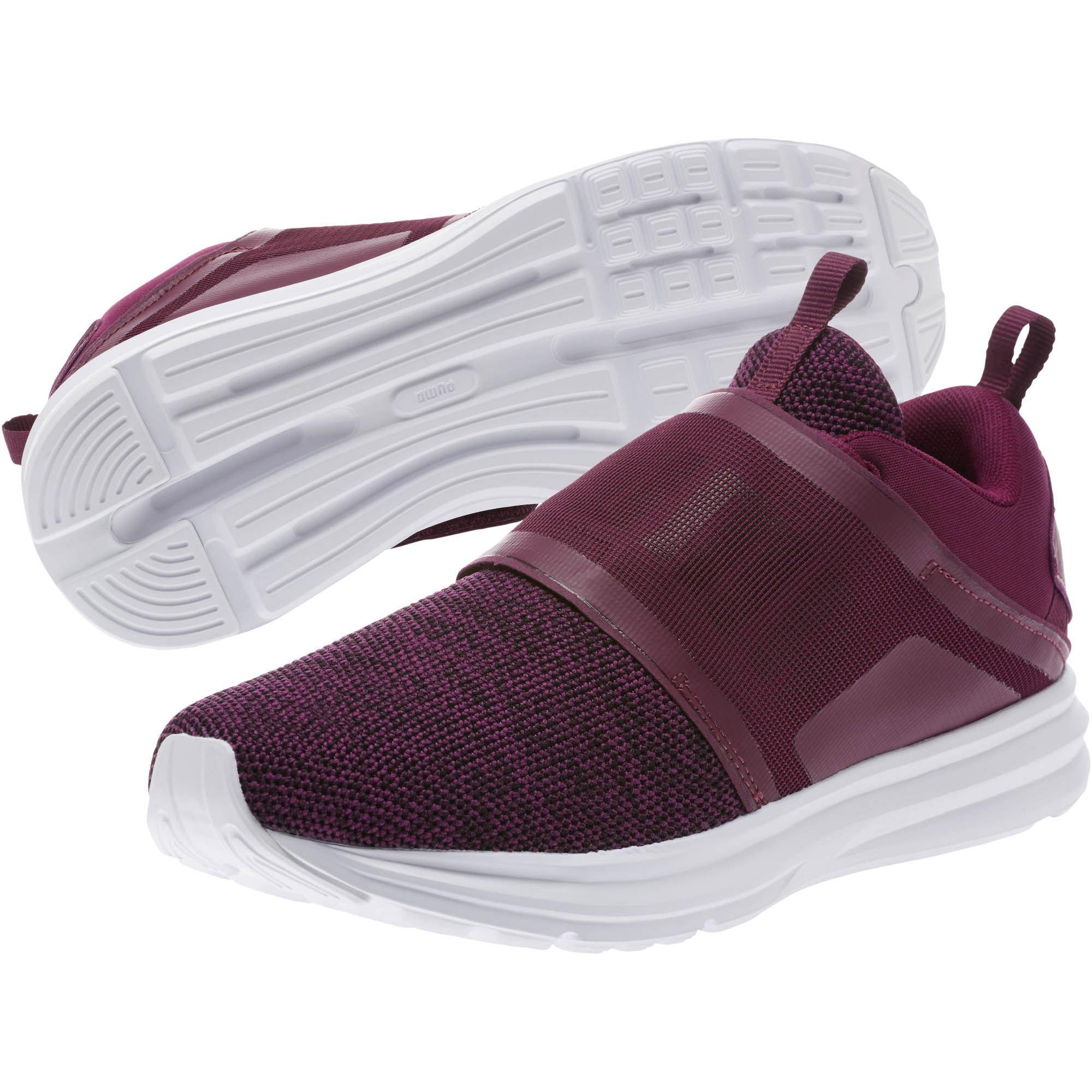 417e11b12ff Lyst - PUMA Enzo Strap Knit Women s Running Shoes in Purple