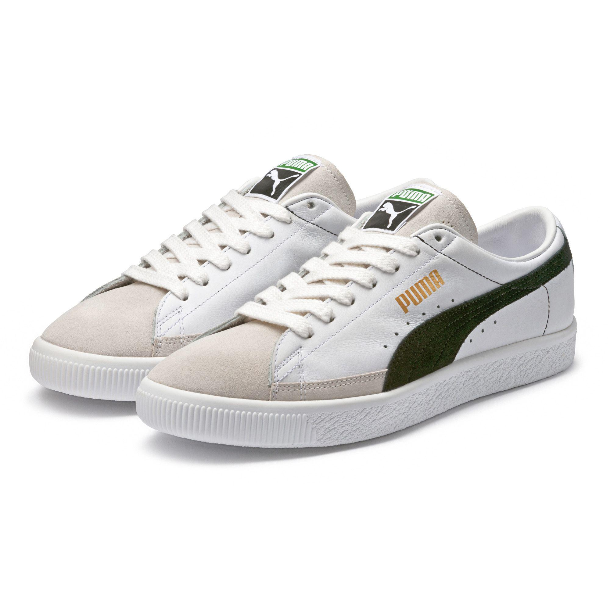 PUMA Leather Basket 90680 Sneakers in White for Men - Lyst