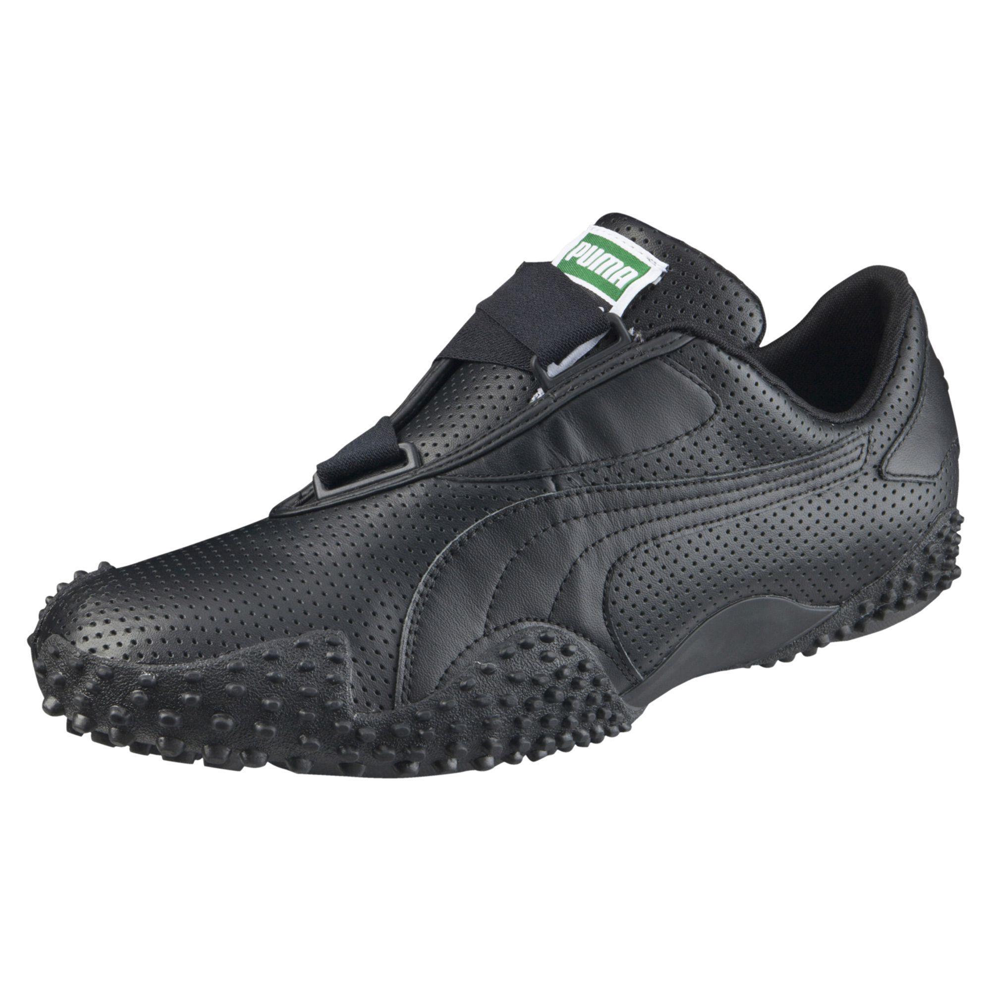 check-out 64843 4de6d Men's Black Mostro Perf Leather
