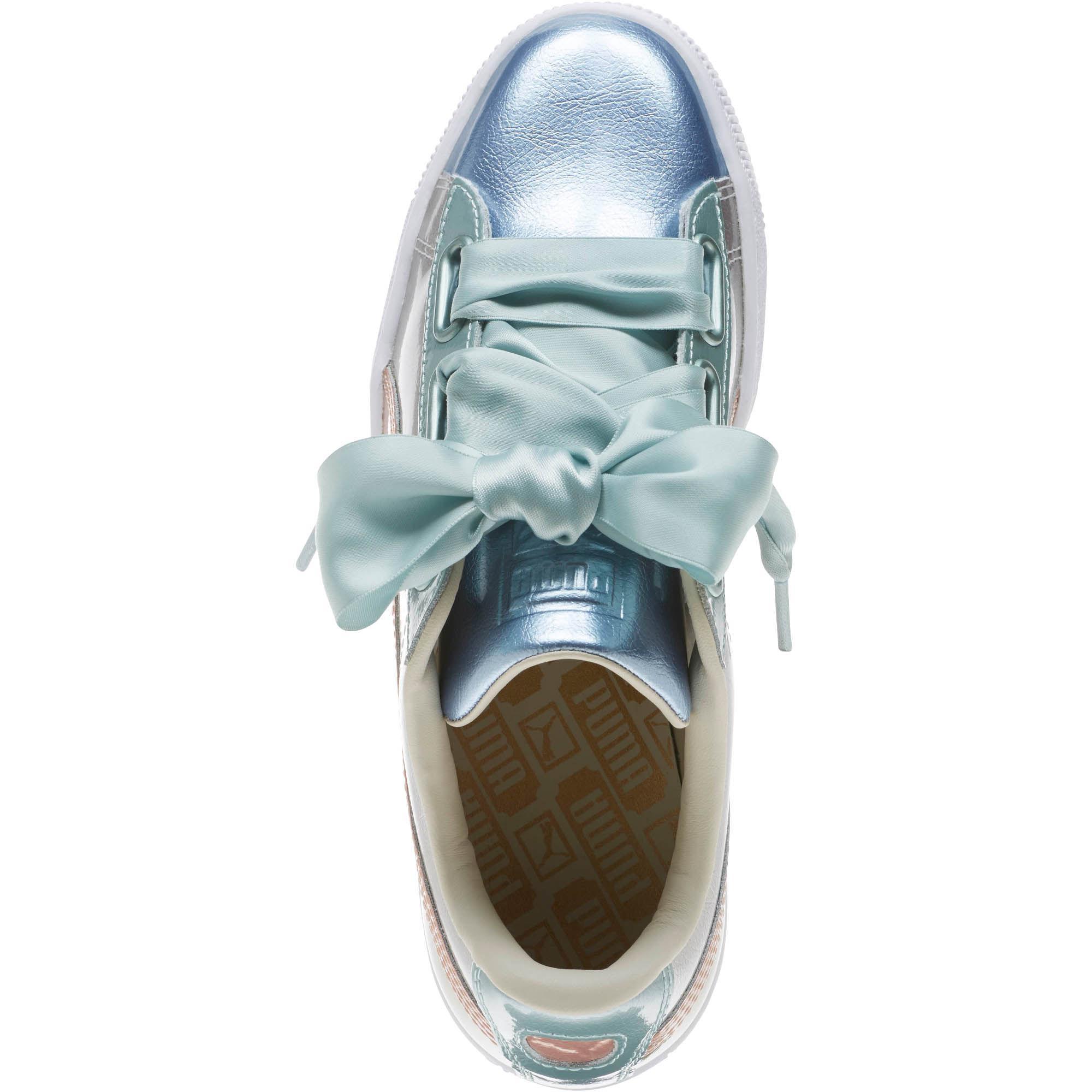 wholesale dealer b2870 e820f PUMA Metallic Basket Heart Bauble Women's Sneakers