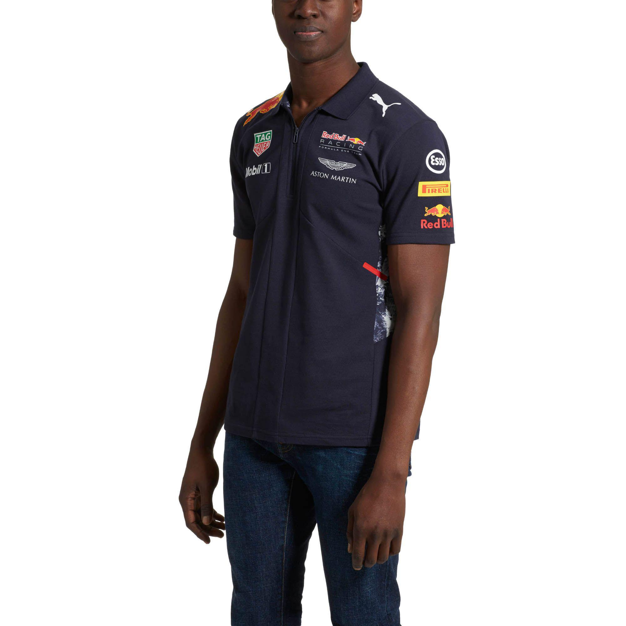 Lyst Puma Red Bull Racing Team Polo Shirt In Blue For Men