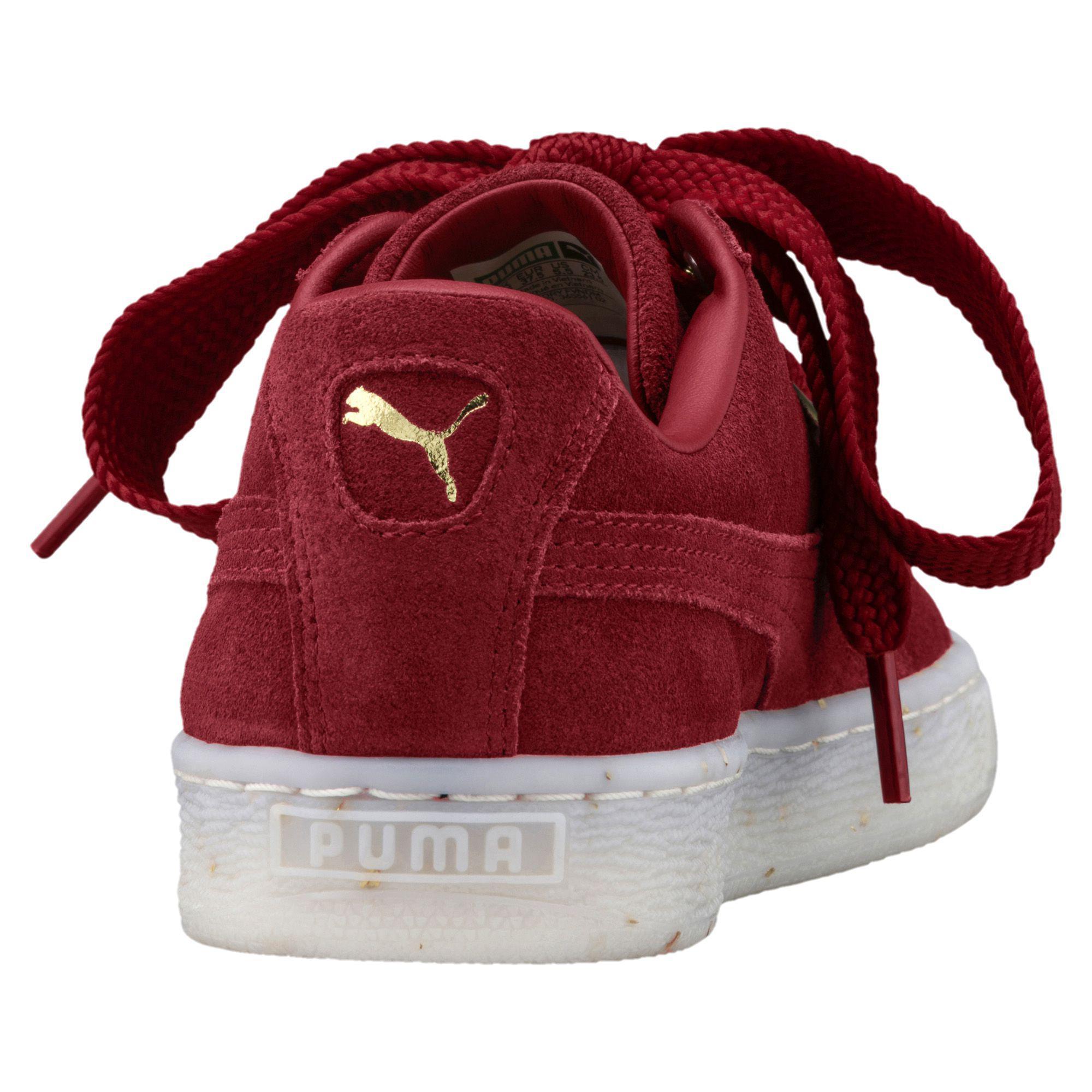 a4b448d7baa Lyst - PUMA  s Suede Heart Celebrate Sneaker in Red - Save 40%
