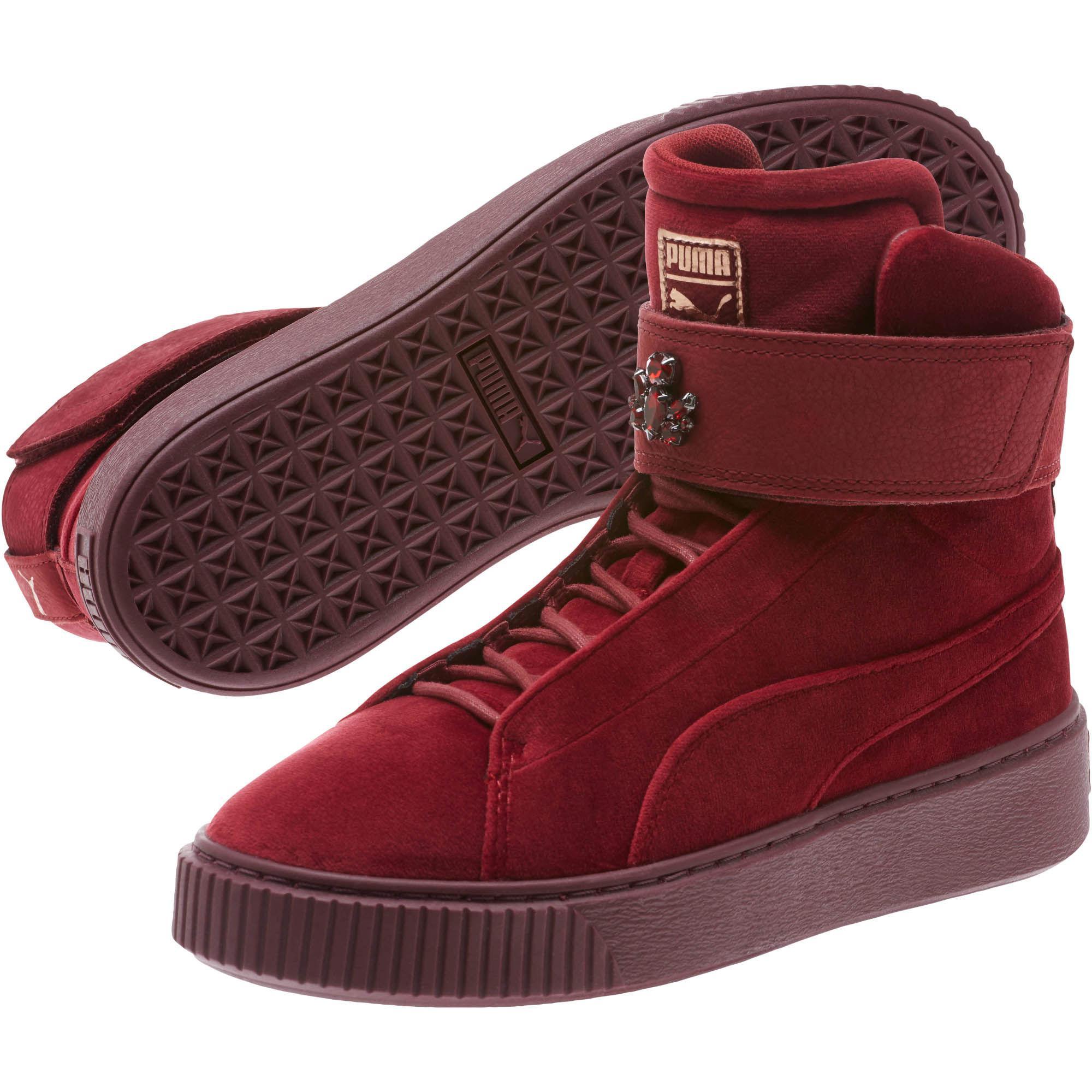 PUMA Leather Platform Mid Velour Women