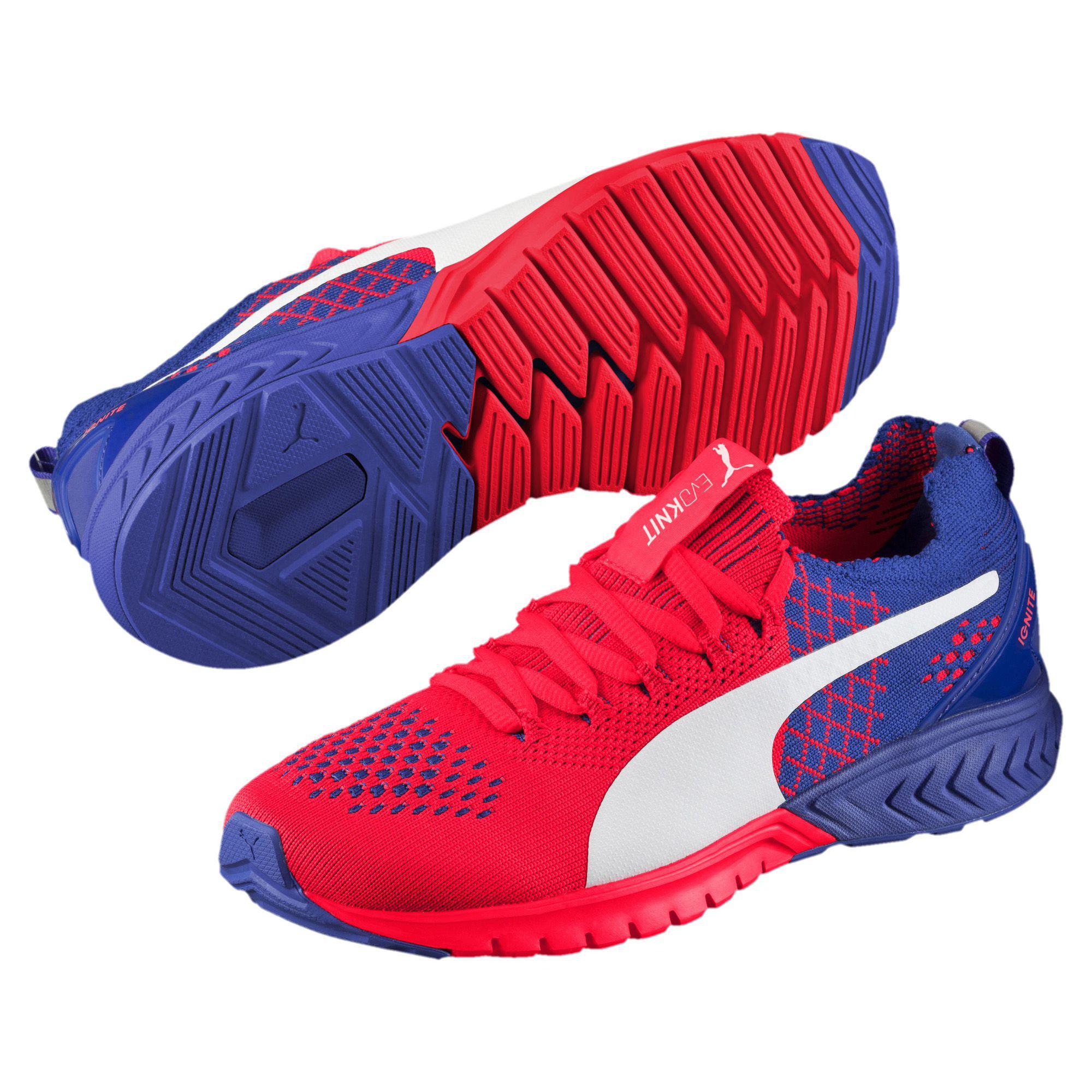 87c5e12e2e99 Lyst - PUMA Ignite Dual Evoknit Women s Running Shoes in Red
