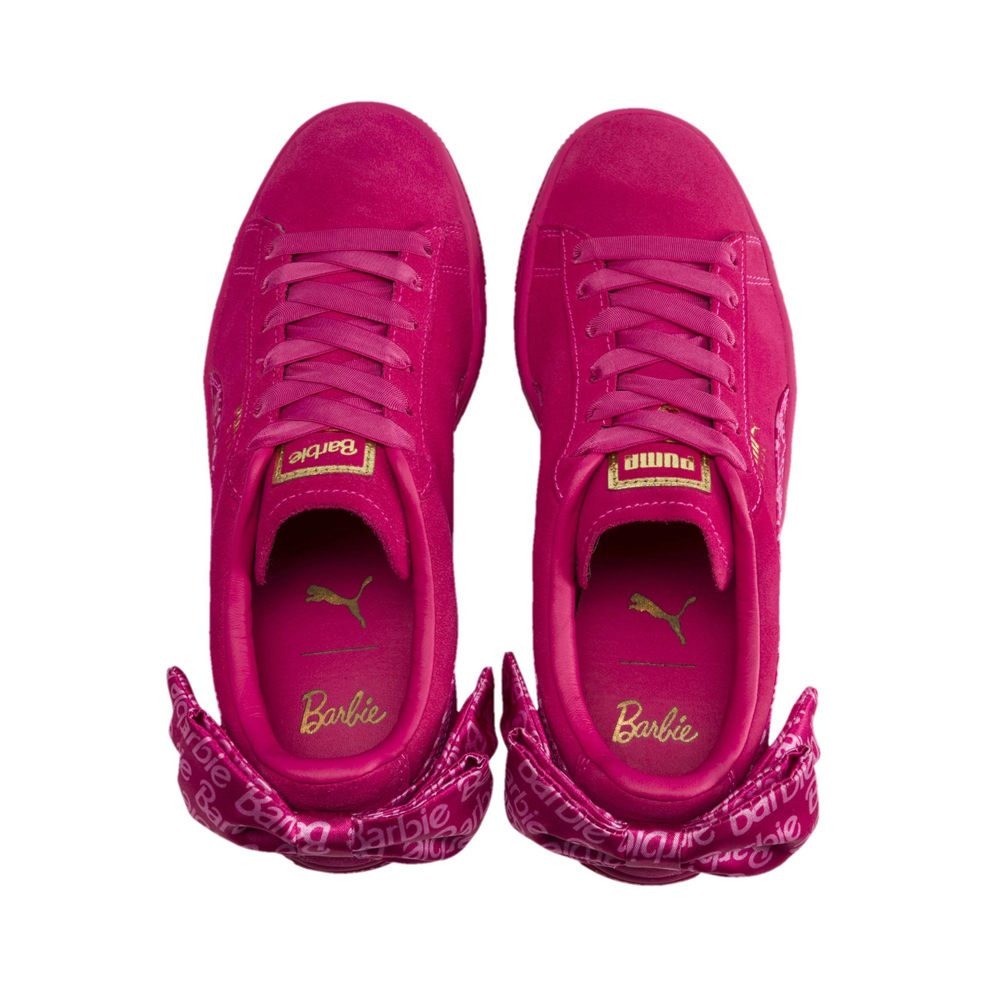9c12f94207d Lyst - PUMA X Barbie Suede Classic Sneaker With Doll in Pink