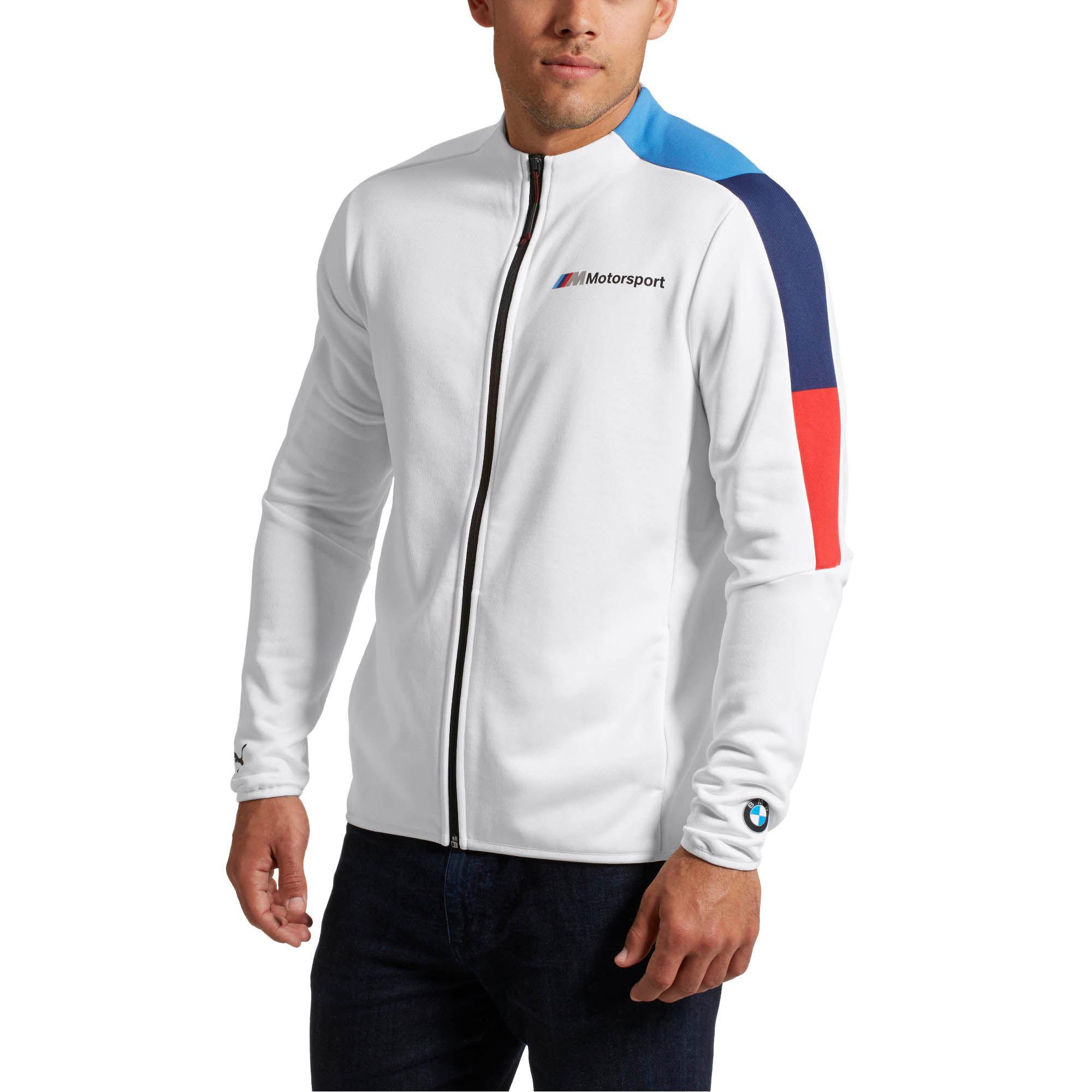 940cb6065050 PUMA - White Bmw M Motorsport Men s T7 Track Jacket for Men - Lyst. View  fullscreen