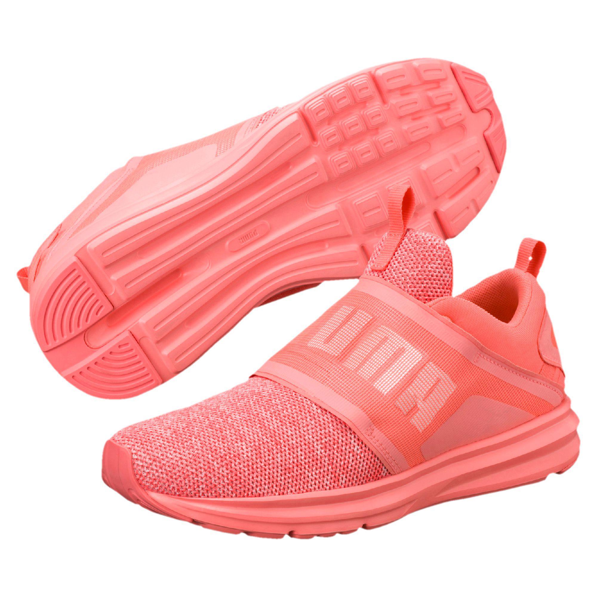 64aa965dda8e14 Lyst - PUMA Enzo Strap Knit Women s Running Shoes in Pink