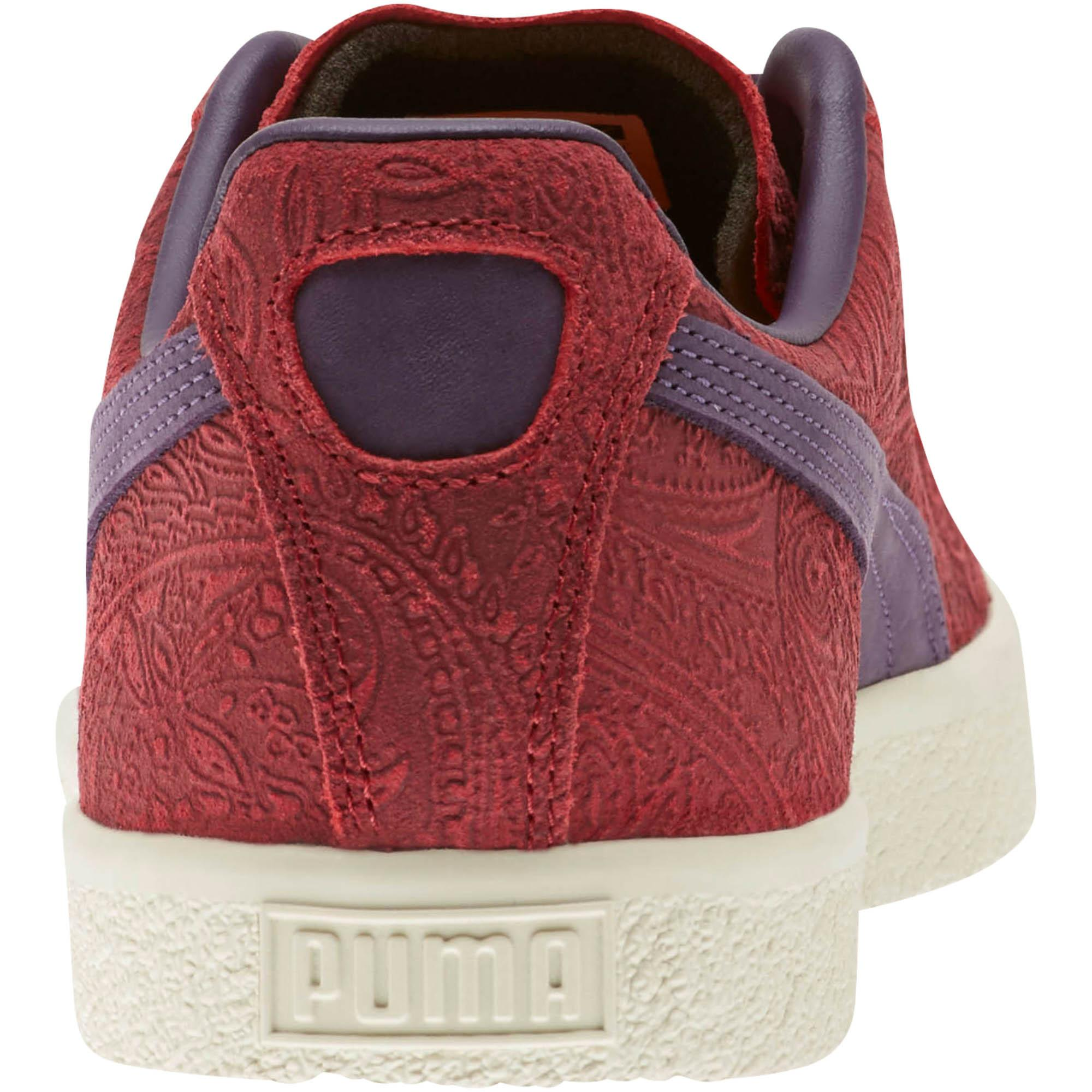 a539f7ceedd PUMA - Red Clyde Paisley Sneakers for Men - Lyst. View fullscreen