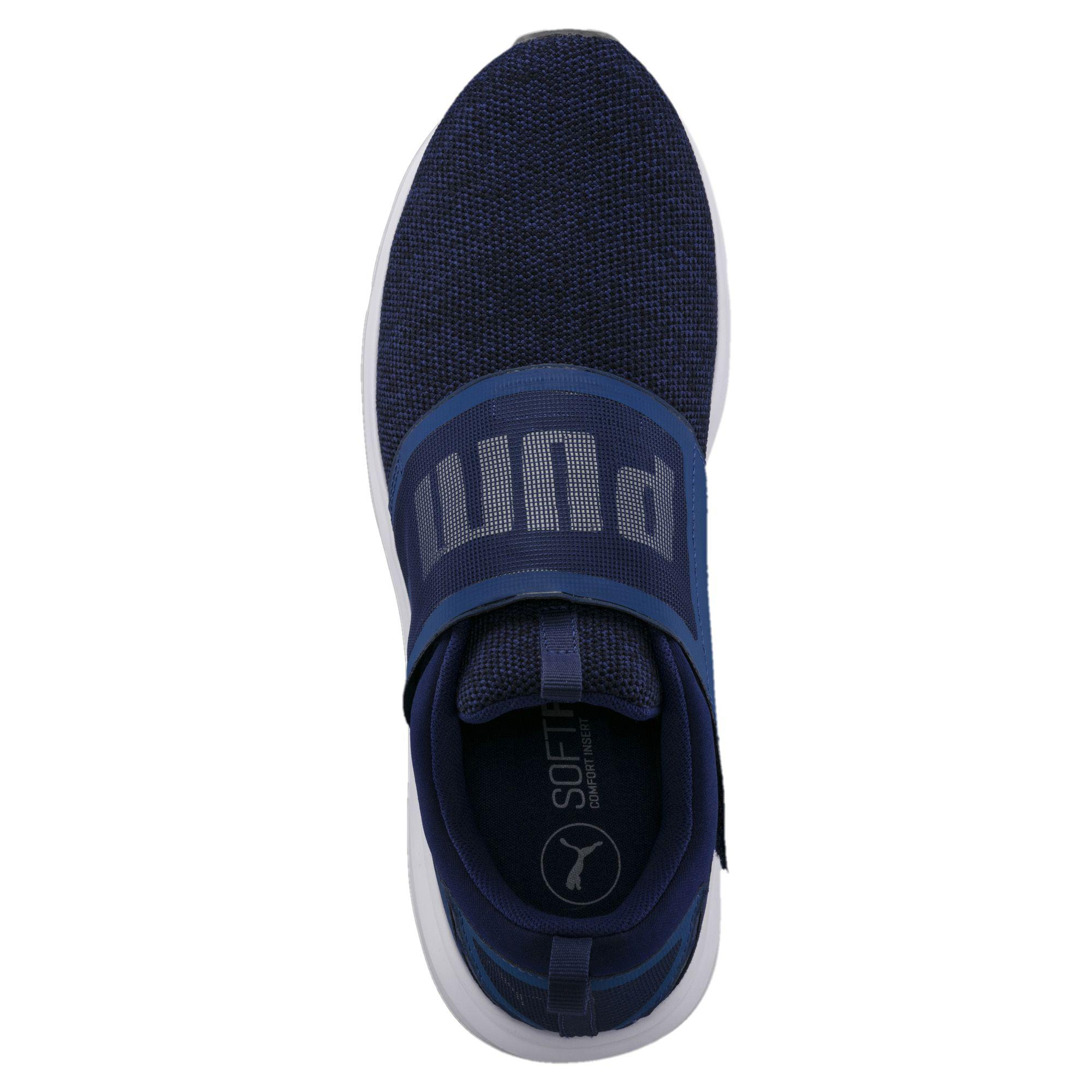 3cc08e96393a97 Lyst - Puma Enzo Strap Knit Men s Running Shoes in Blue for Men