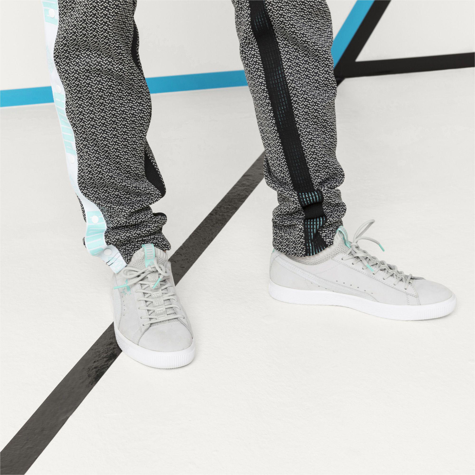 buy popular db83d 652d5 Men's Gray X Diamond Clyde Sock Lo Sneakers