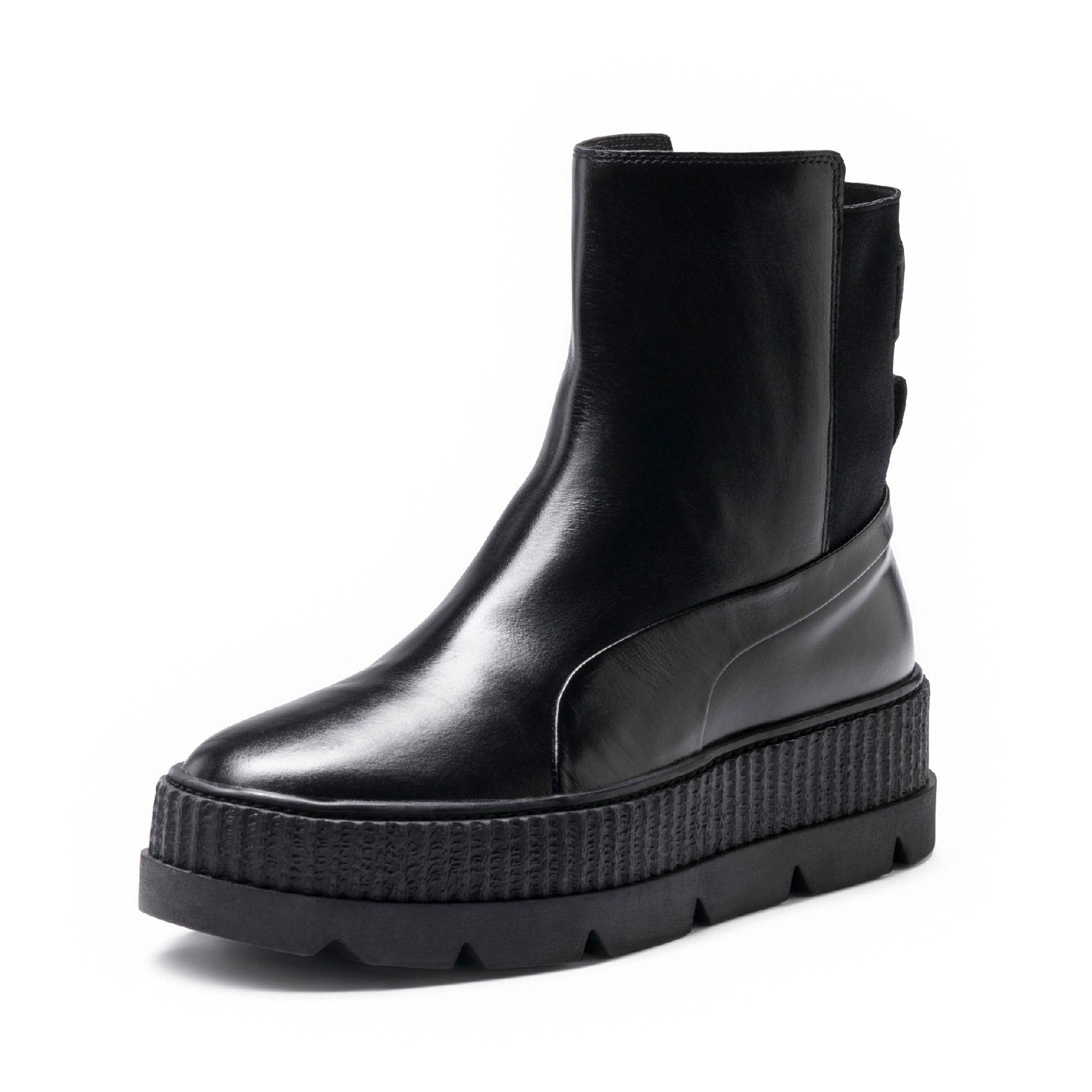 cheaper 607f8 b01d1 Black Fenty Women's Chelsea Sneaker Boot