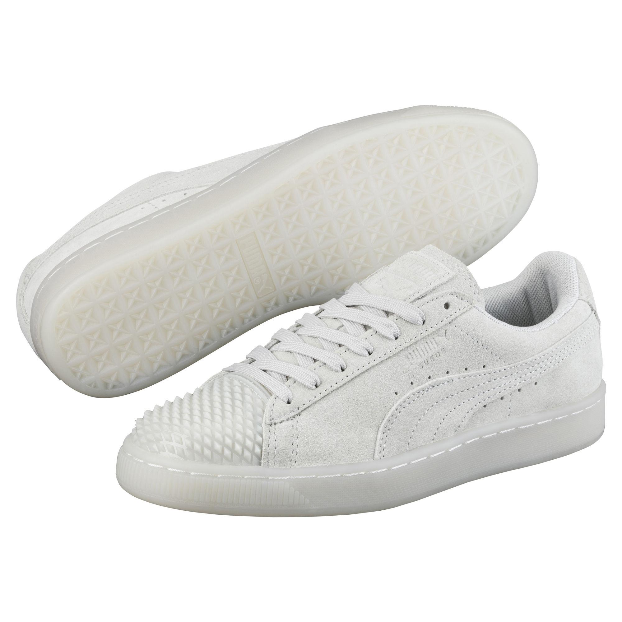 9f8886a0 PUMA Gray Suede Jelly Women's Sneakers