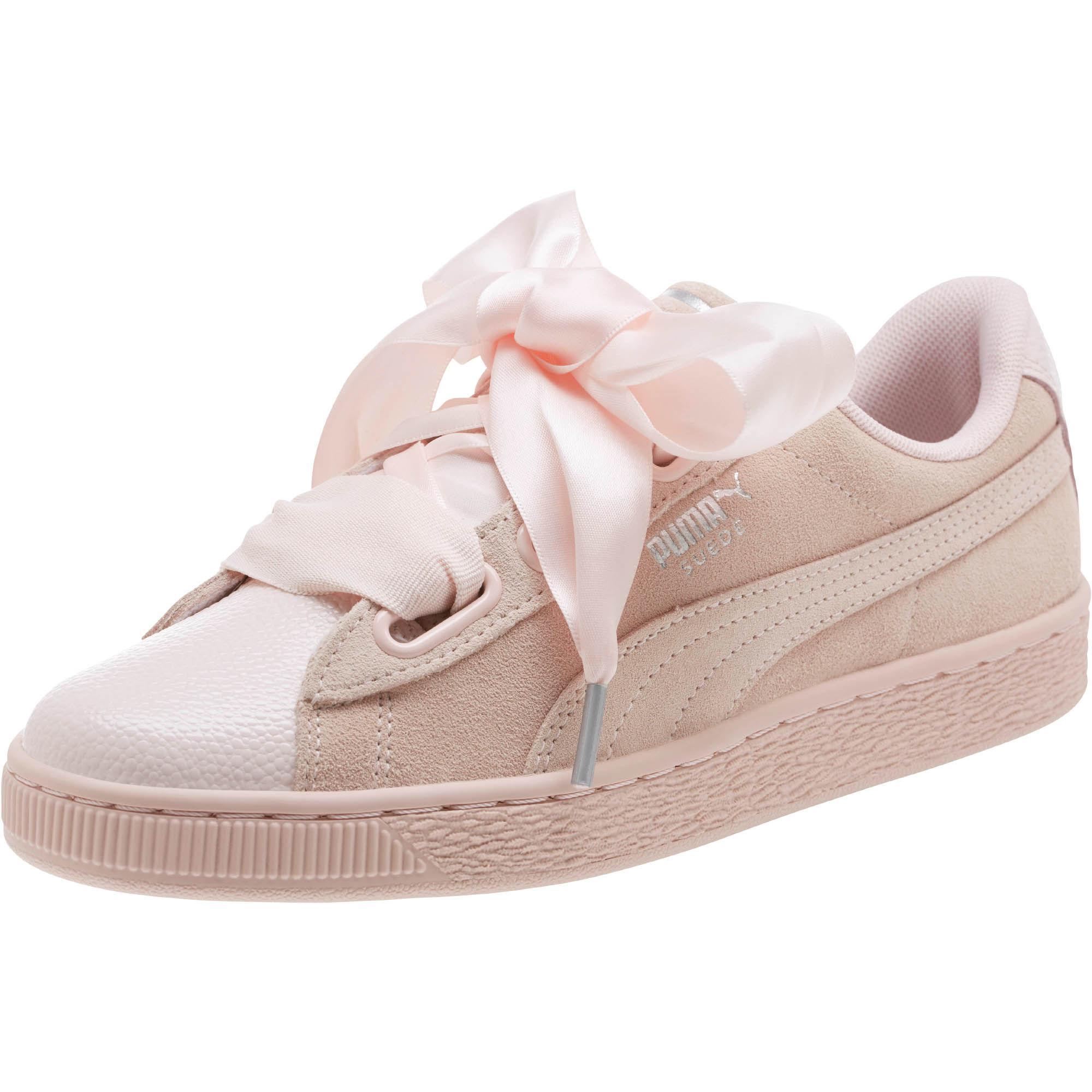 buy online cef73 c4d33 PUMA Suede Heart Bubble Women s Sneakers in Pink - Lyst