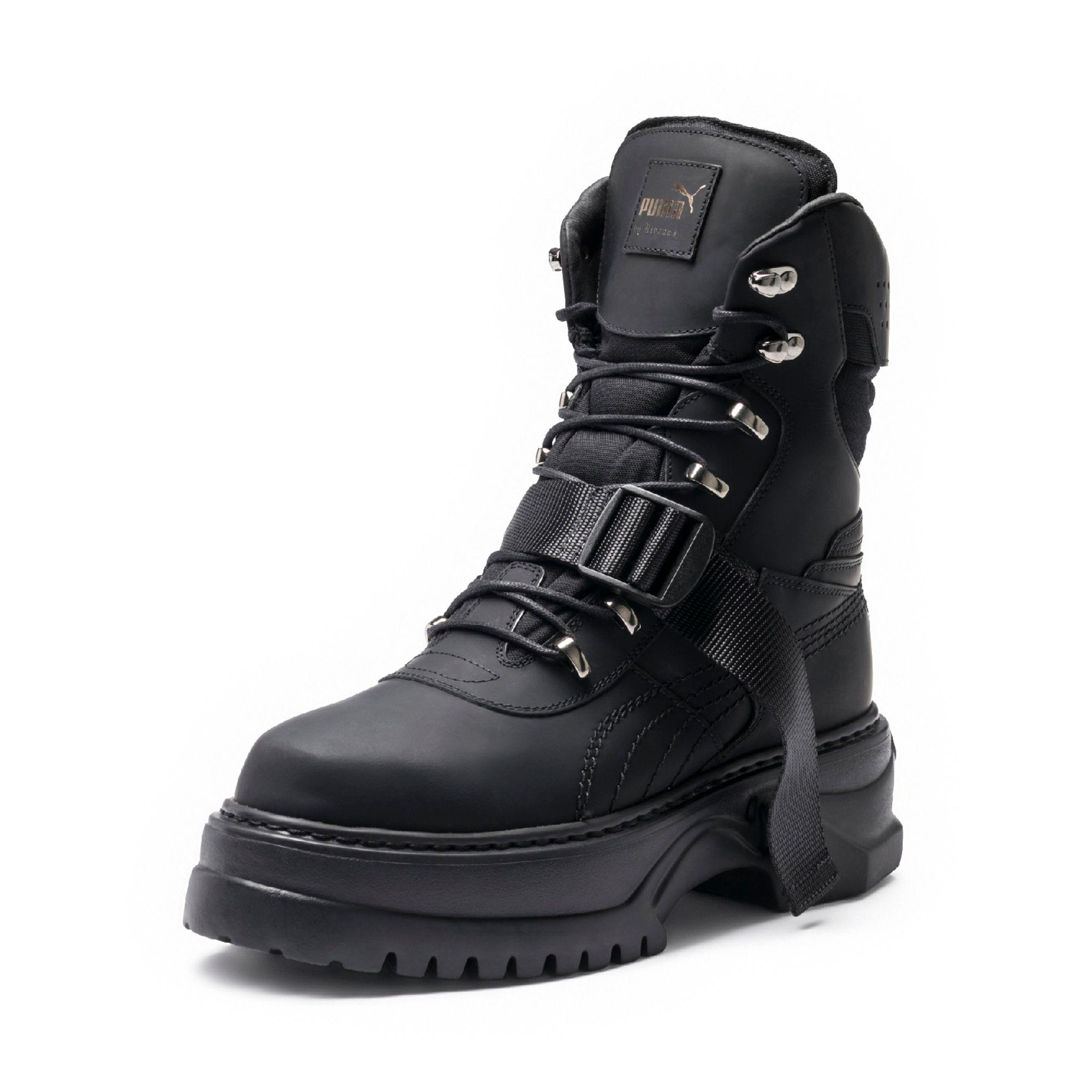 hot sale online b594a c22c0 Black Fenty Men's Winter Boot Nubuck