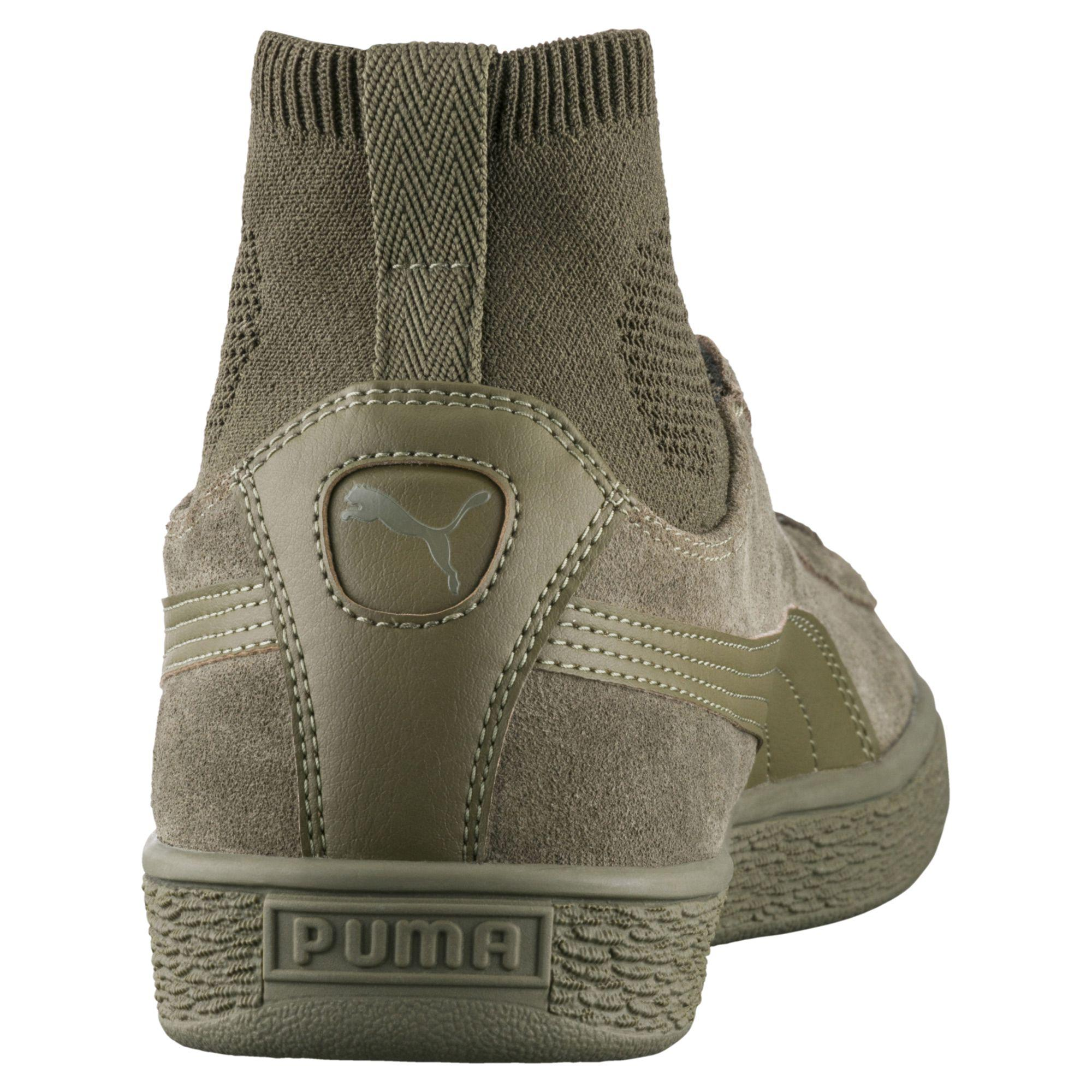 Puma Suede Classic Sock Sneakers For Men Buy Olive Night