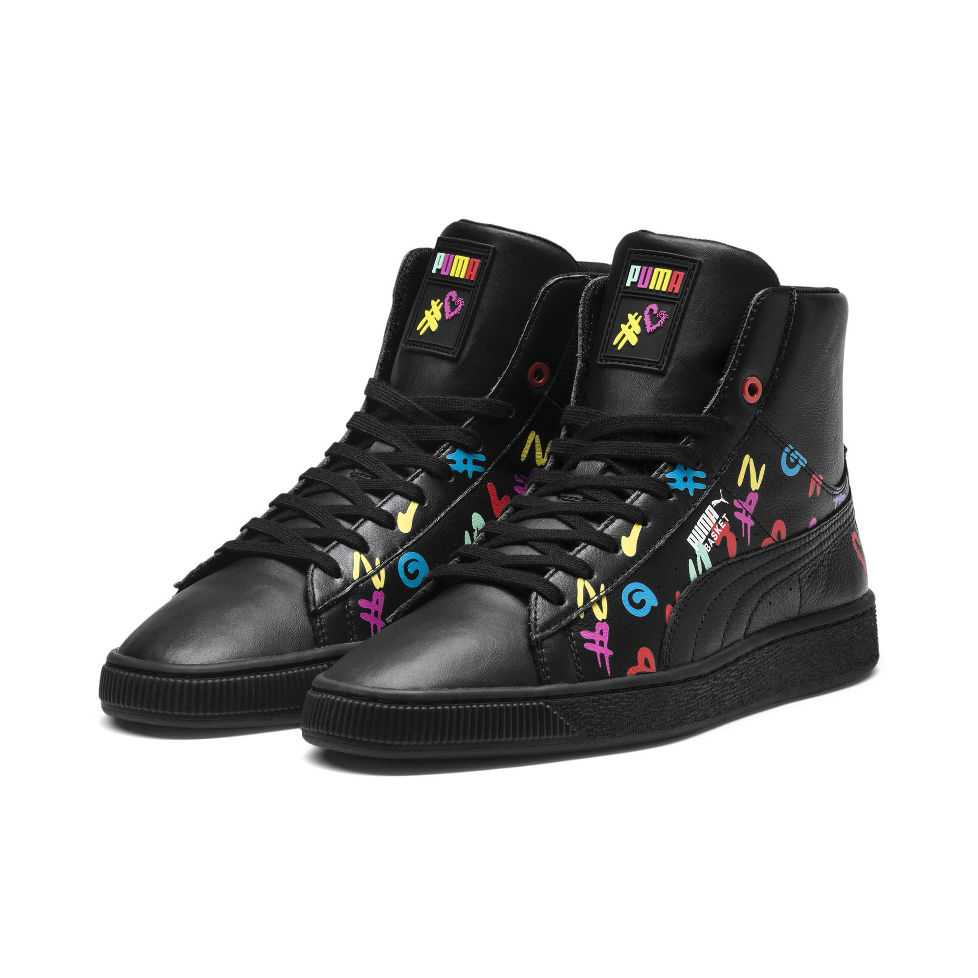 1313d26251 PUMA Black X Bradley Theodore Mid Basket Shoes for men