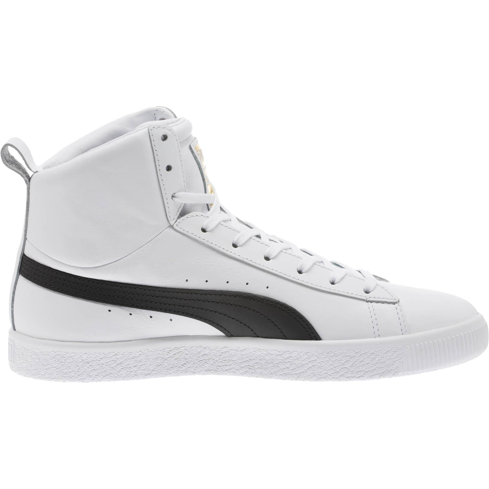 PUMA Leather Clyde Core Mid Sneakers in