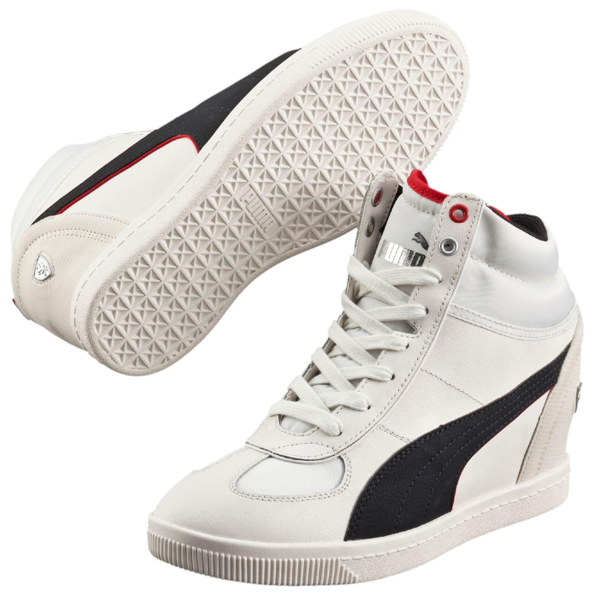 352ea69b5dbc Lyst - PUMA Ferrari Selection Nm Women s Wedge Sneakers in White