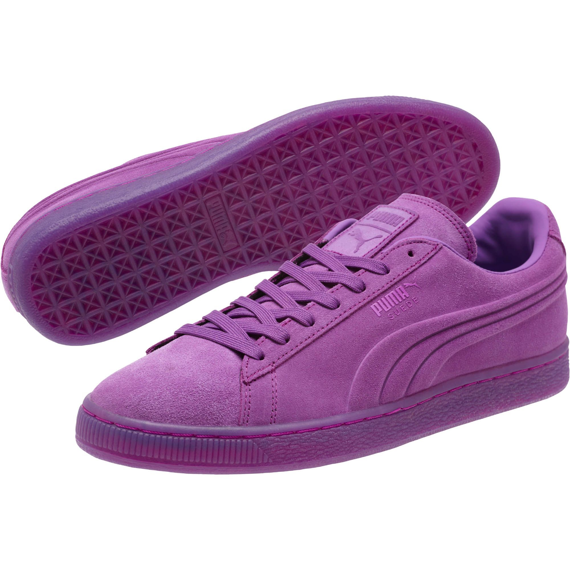 8511abfc2b9e Lyst - PUMA Suede Embossed Iced Fluo Men s Sneakers in Purple for Men