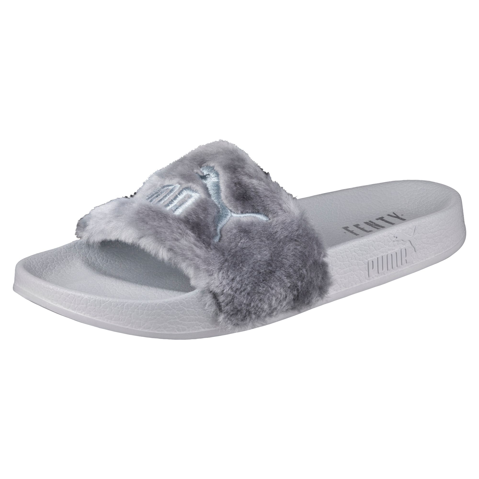 lyst puma fur slide by fenty women 39 s sandals. Black Bedroom Furniture Sets. Home Design Ideas