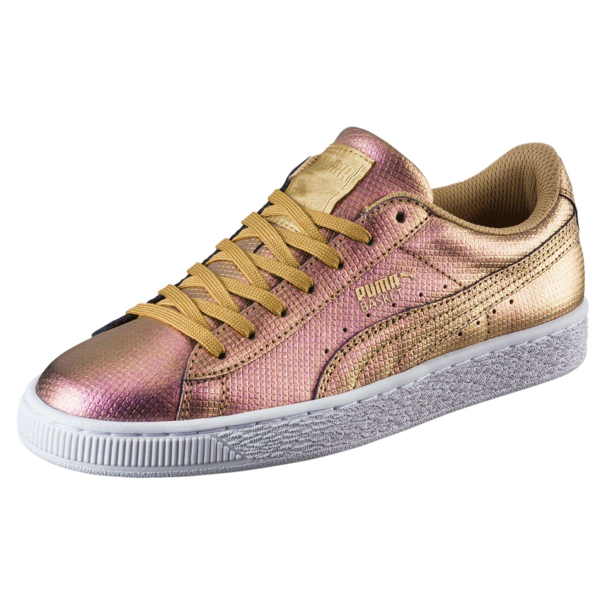 44d24ef836e Lyst - PUMA Basket Holographic Women s Sneakers in Metallic