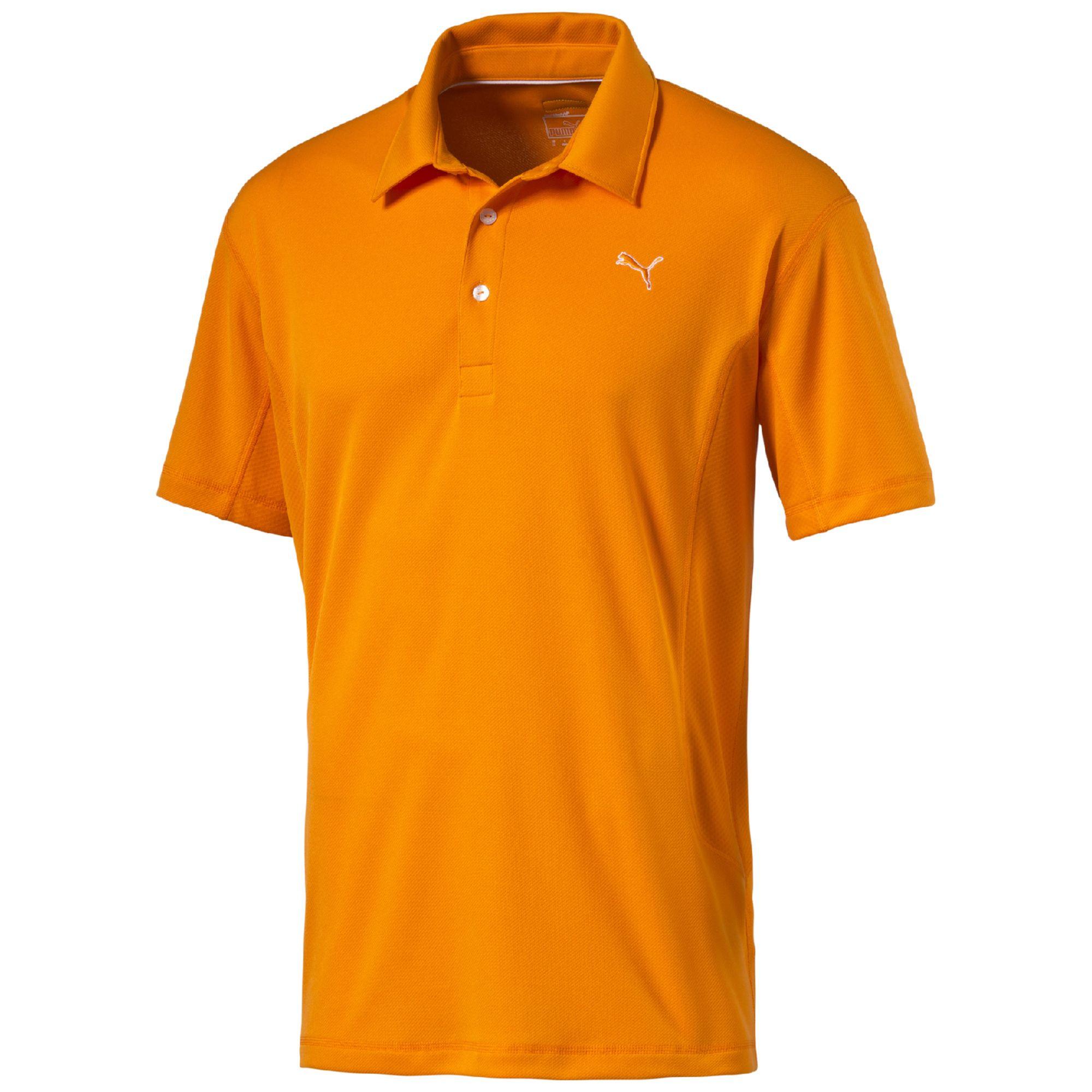 Puma Tech Golf Polo Shirt In Orange For Men Lyst