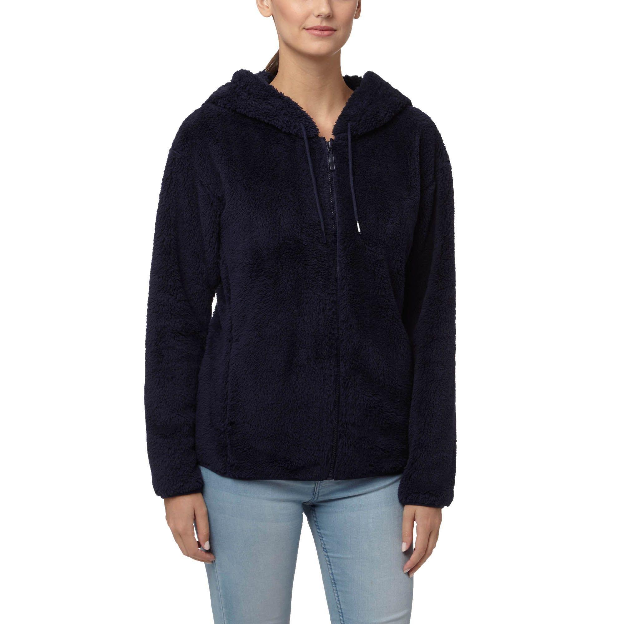 Lyst Puma Teddy Hooded Jacket In Blue Jaket Fleece Db Red Gallery