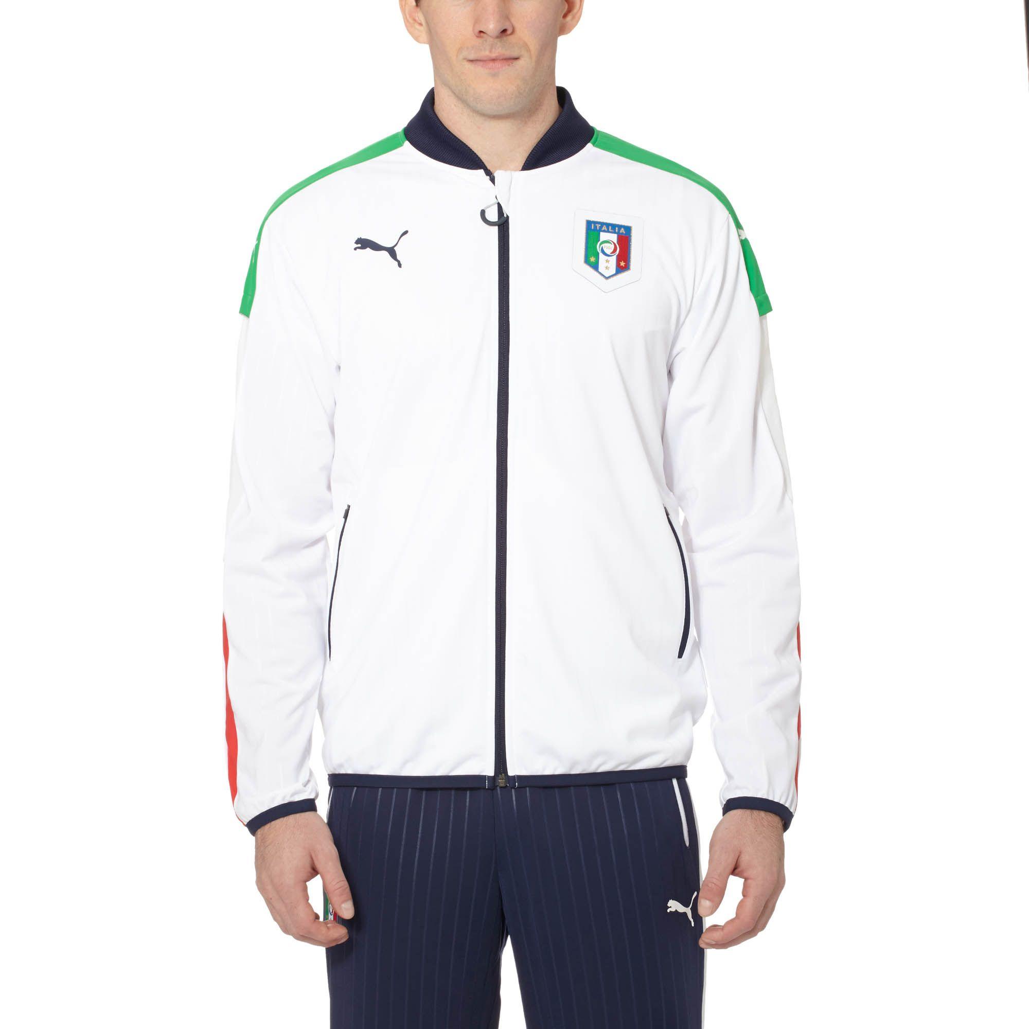 dfe96717cb Lyst - PUMA Figc Italia Stadium Jacket in White for Men