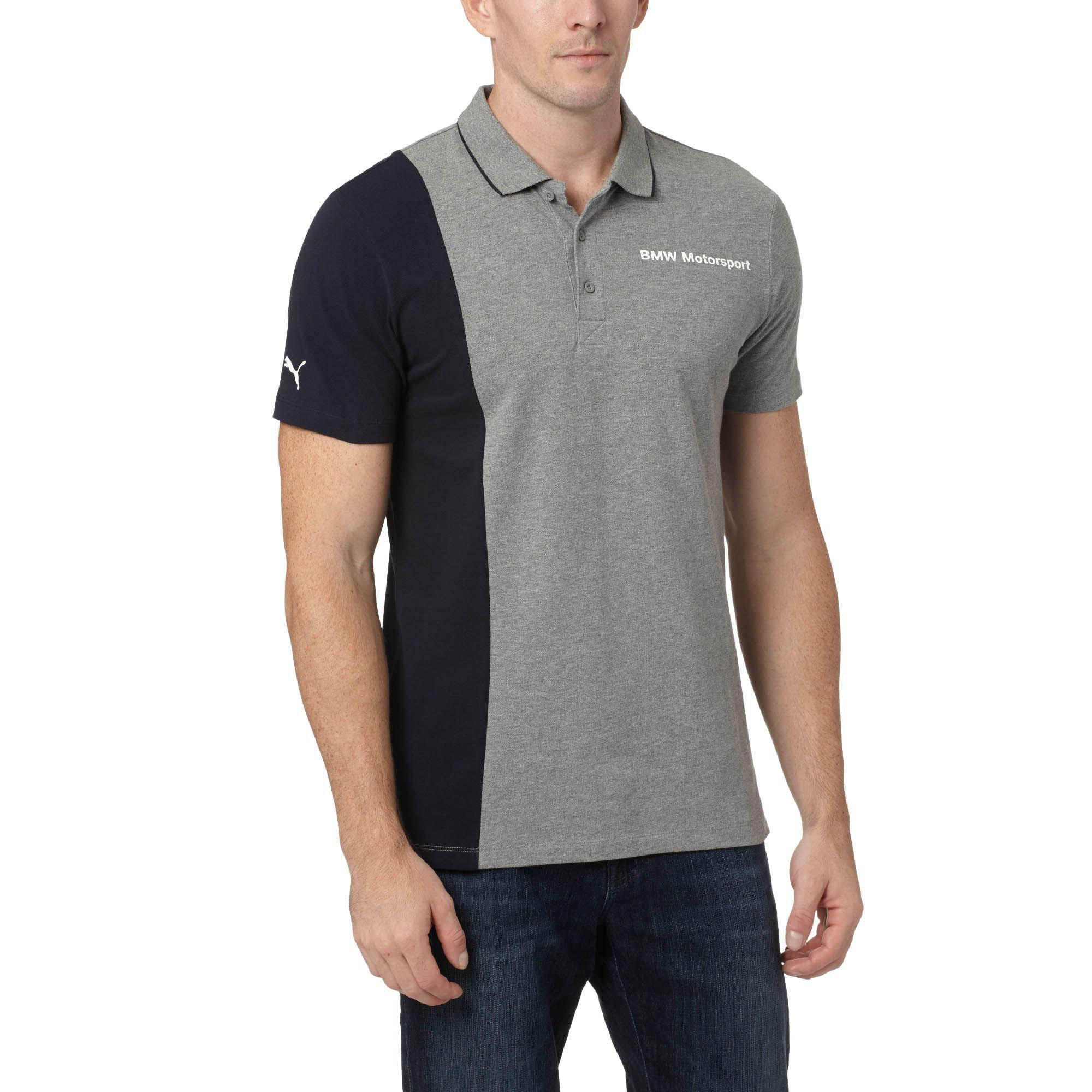 f6ee5890bc1 Lyst - PUMA Bmw Polo Shirt in Gray for Men