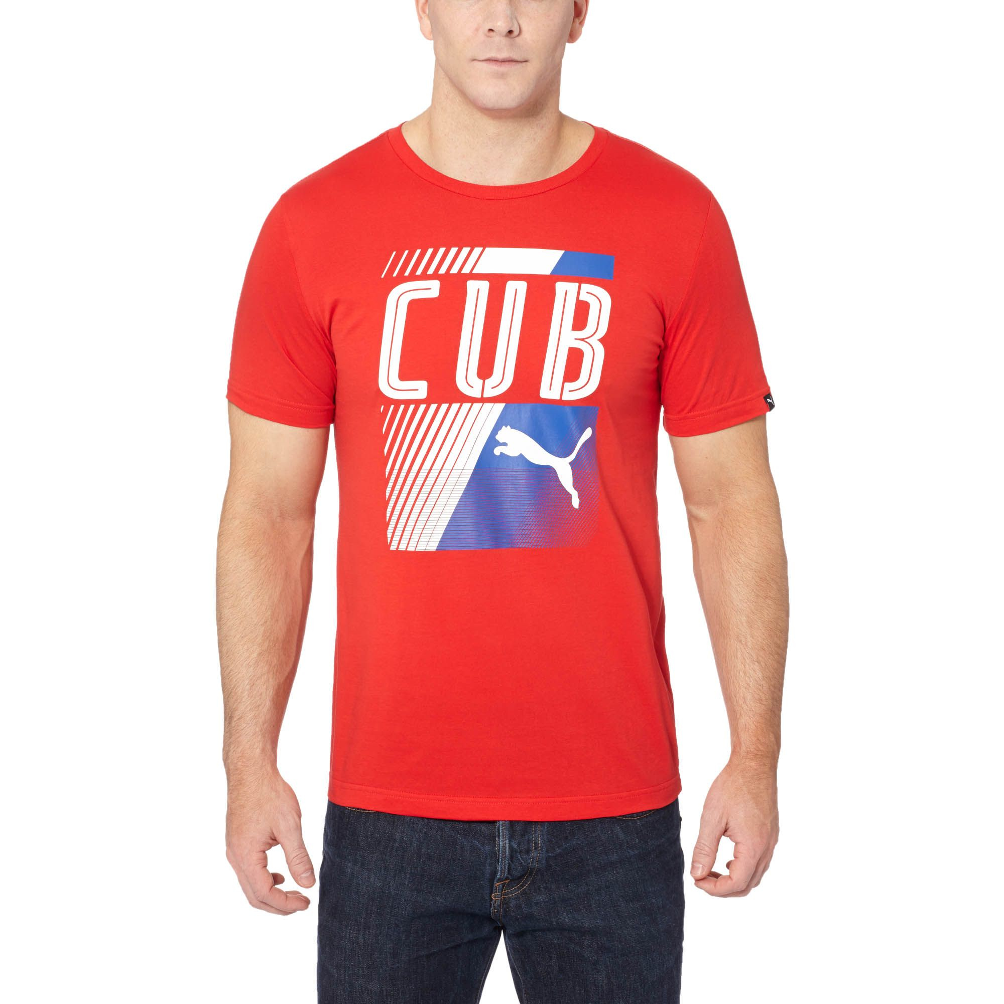 For Shirt Red Men Puma Fan T Cuba AjL45R