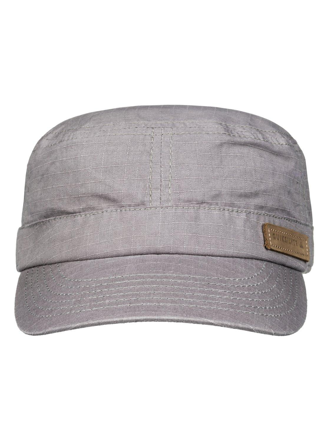 size 40 2a712 35db9 ... best price quiksilver gray military cap for men lyst. view fullscreen  62e49 ab352