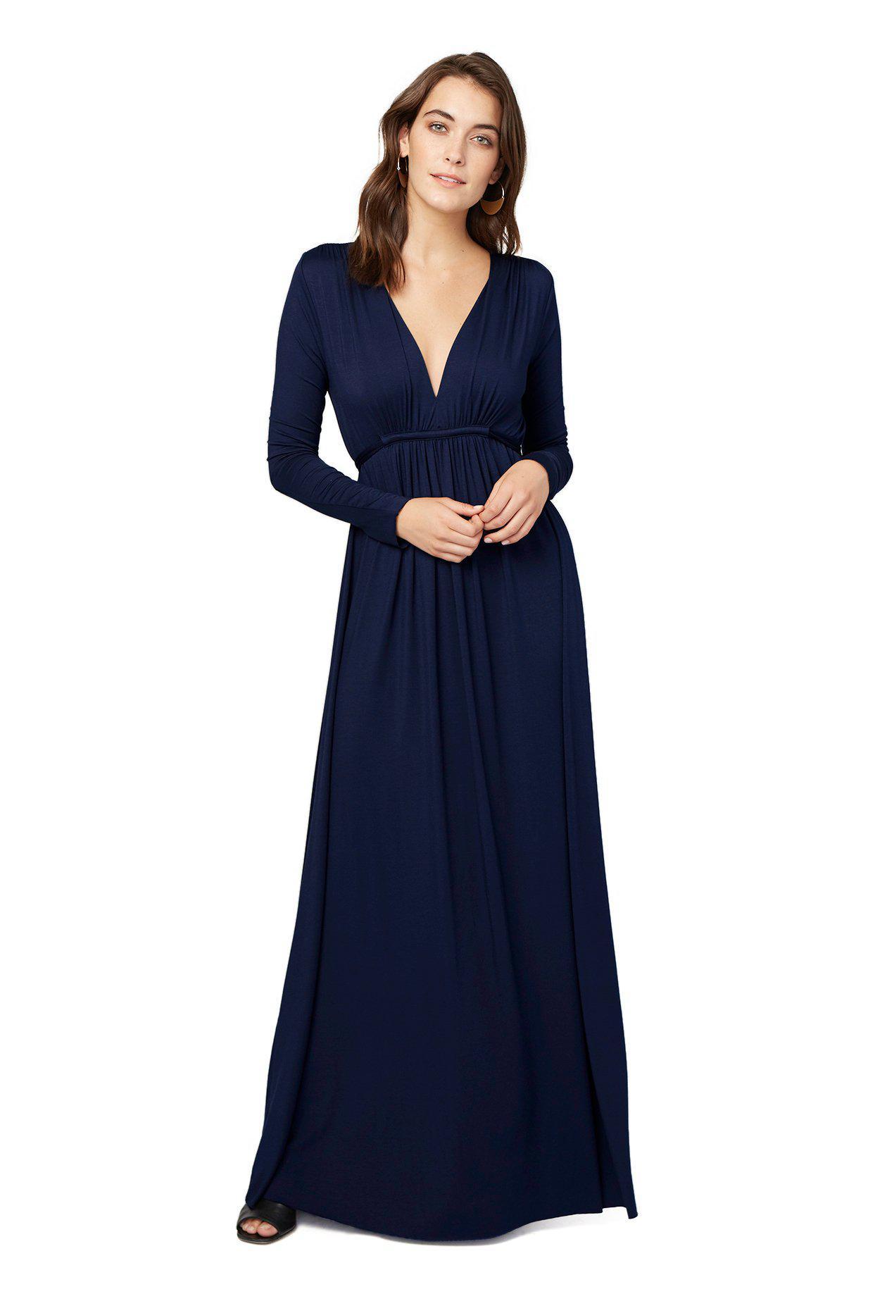 b2f8083d22d7c Lyst - Rachel Pally Long Sleeve Full Length Caftan - Stargazer in Blue