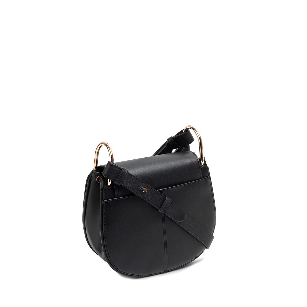 Radley Leather Camley Street Small Flapover Cross Body in Black