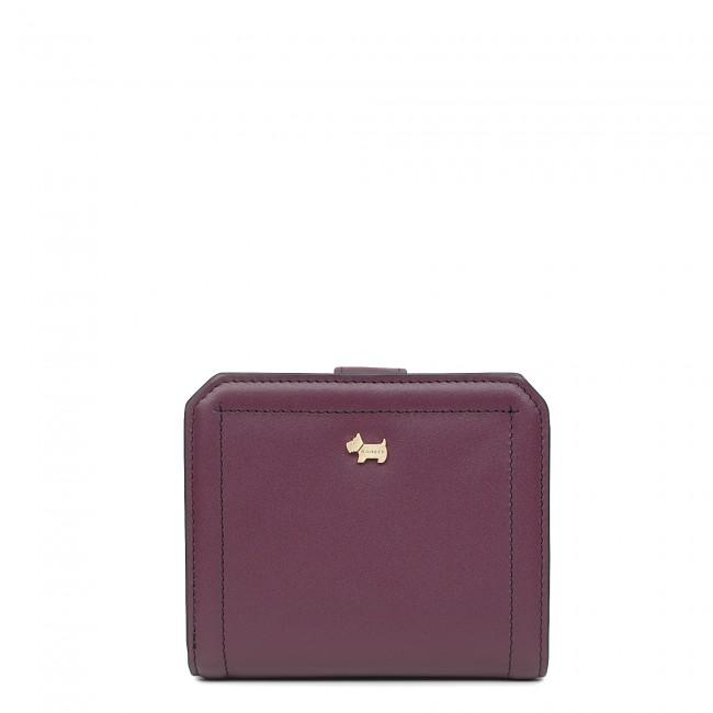 Radley Marwood Womens Ladies Medium Tab Bifold Purse Wallet Port Burgundy RRP£72