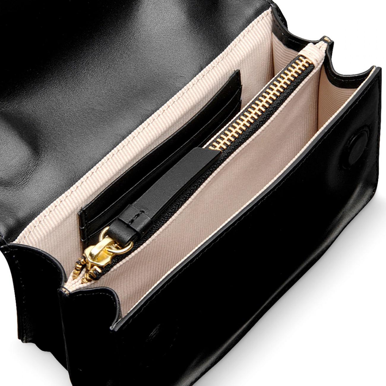 1e91984ba9 Radley Godolphin House Mini Flapover Cross Body Bag in Black - Lyst