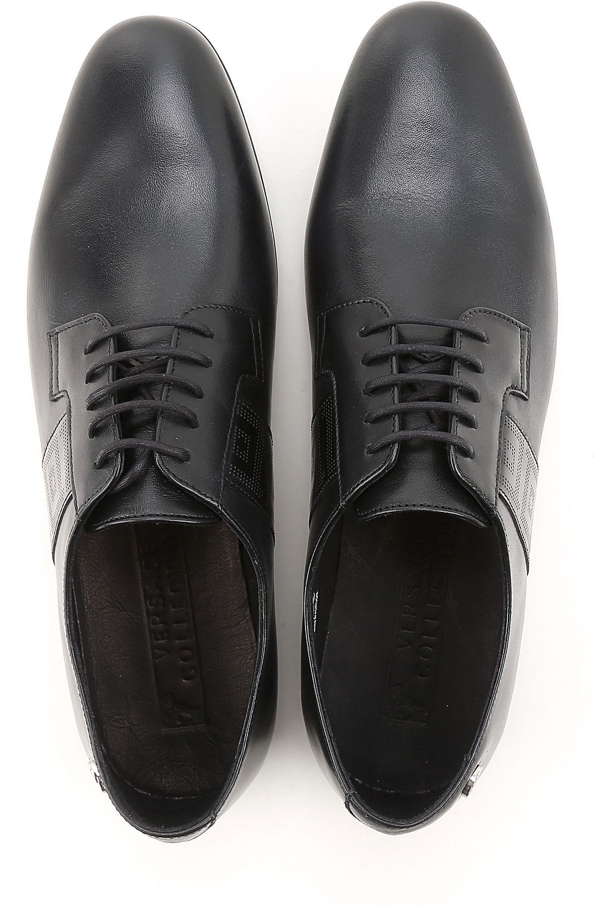 Lacets Homme Versace Chaussure Black À En Coloris Pour ulK1Tc3JF